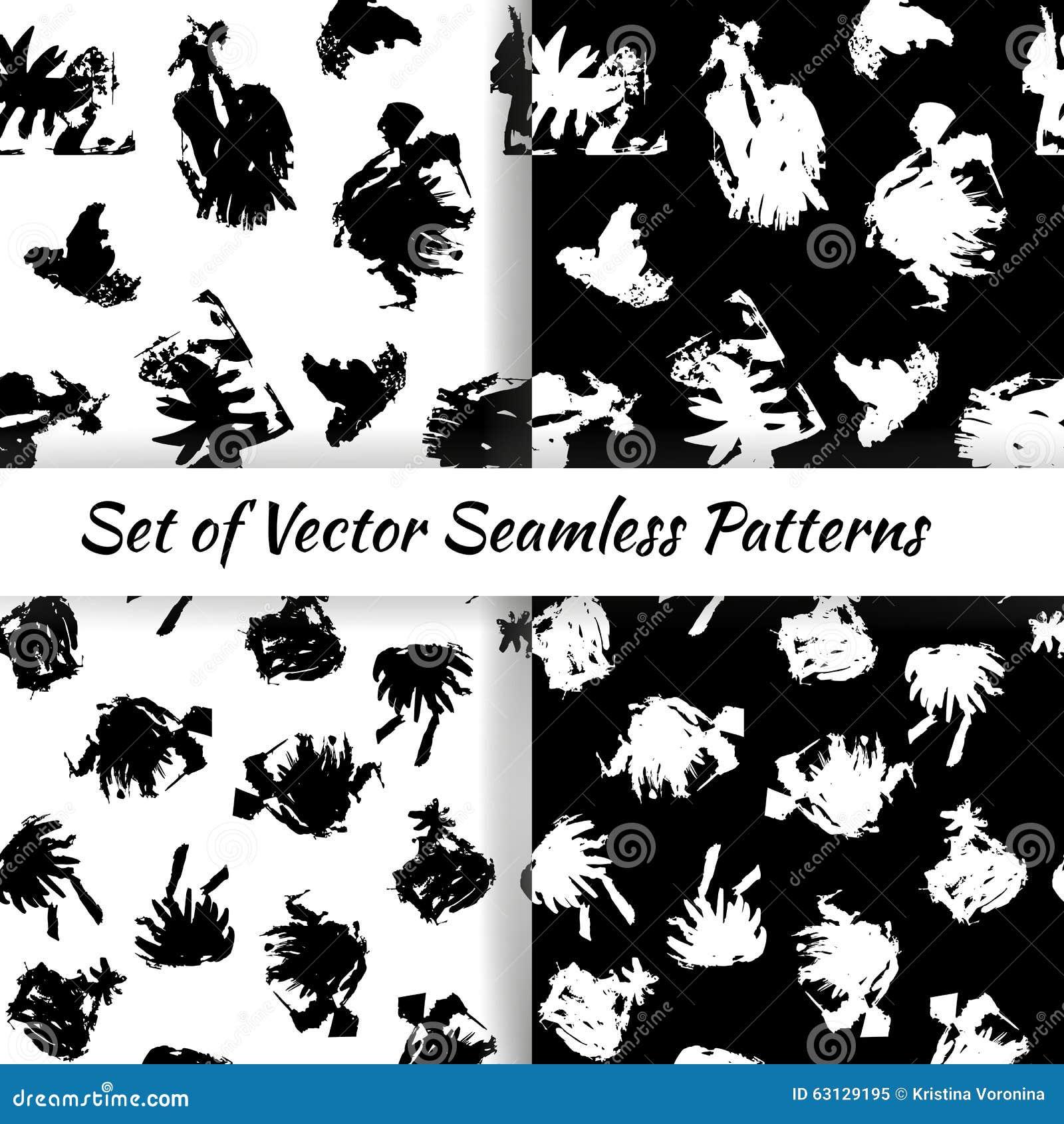 Reeks decoratieve grafische naadloze patronen met