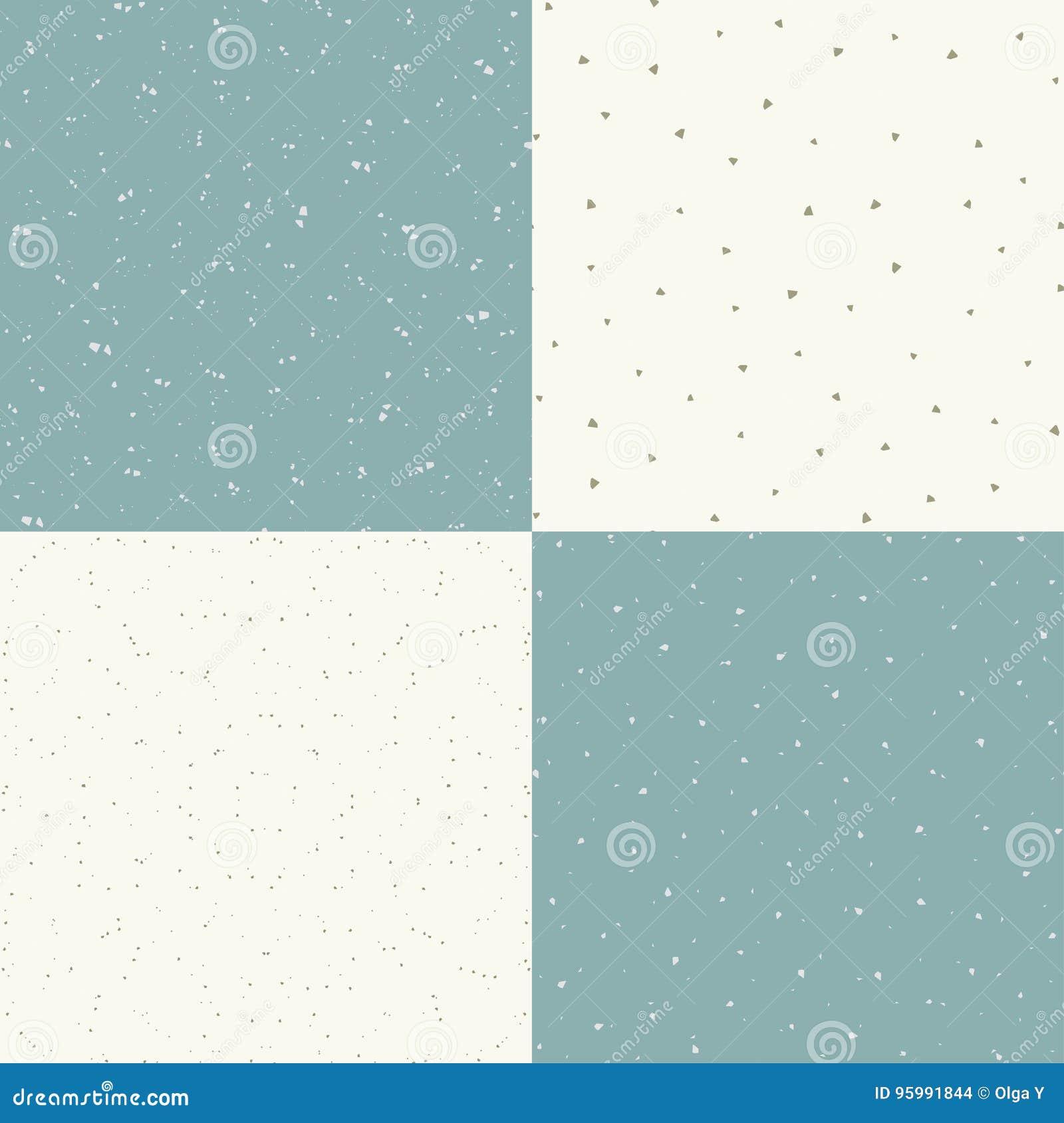 Reeks die van vector naadloze uitstekende textuur 4, een oude deklaag met krassen en oneffenheden imiteren