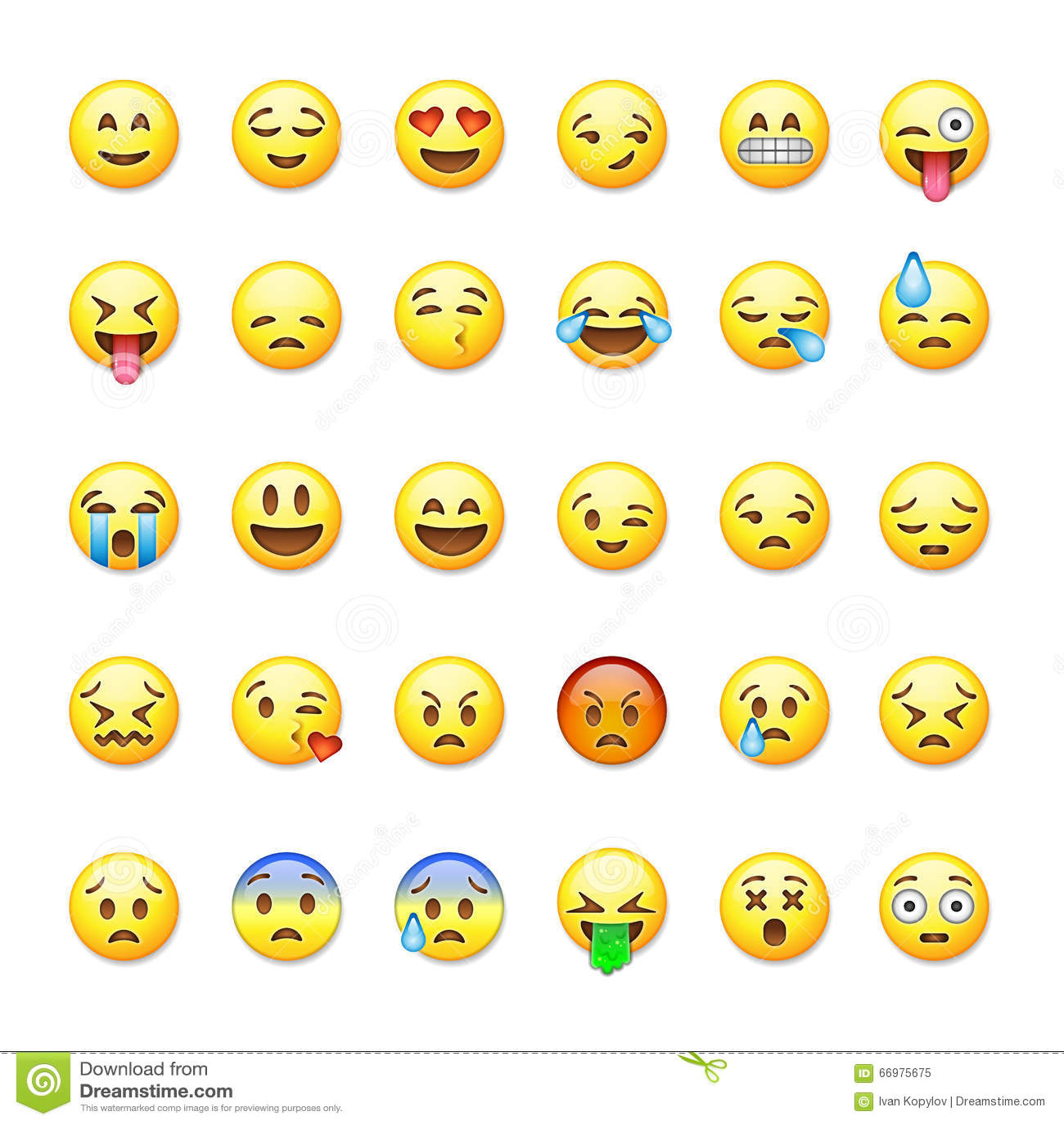 Reeks emoticons, emoji