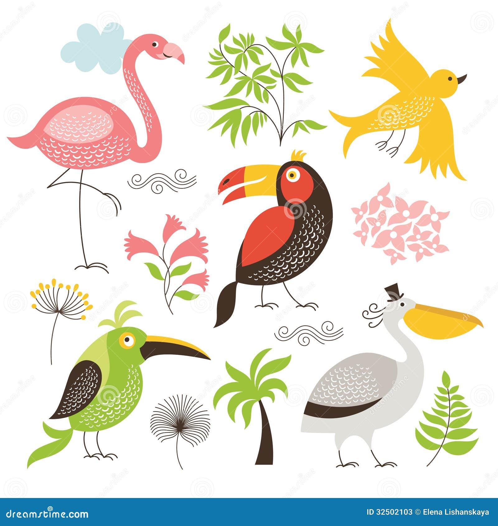 Reeks exotische vogels