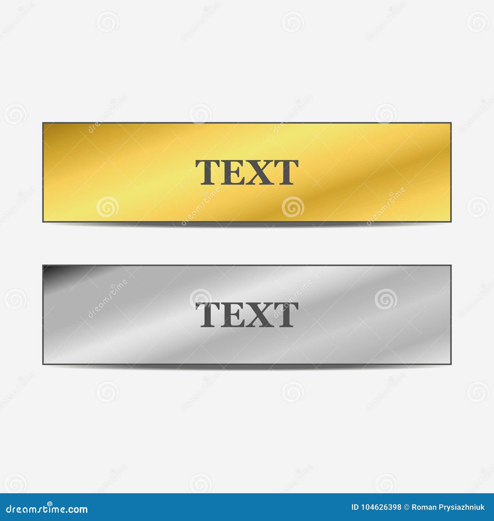 Download Reeks Goud En Metaalbanners Met Schaduw Vector Illustratie Vector Illustratie - Illustratie bestaande uit accent, embleem: 104626398