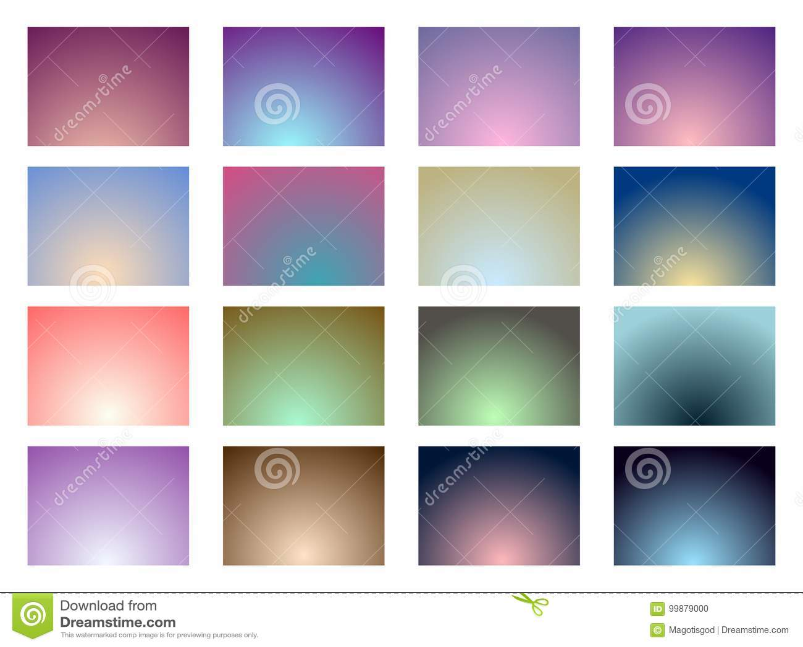 Reeks gradiëntachtergronden Zachte Kleur Vector