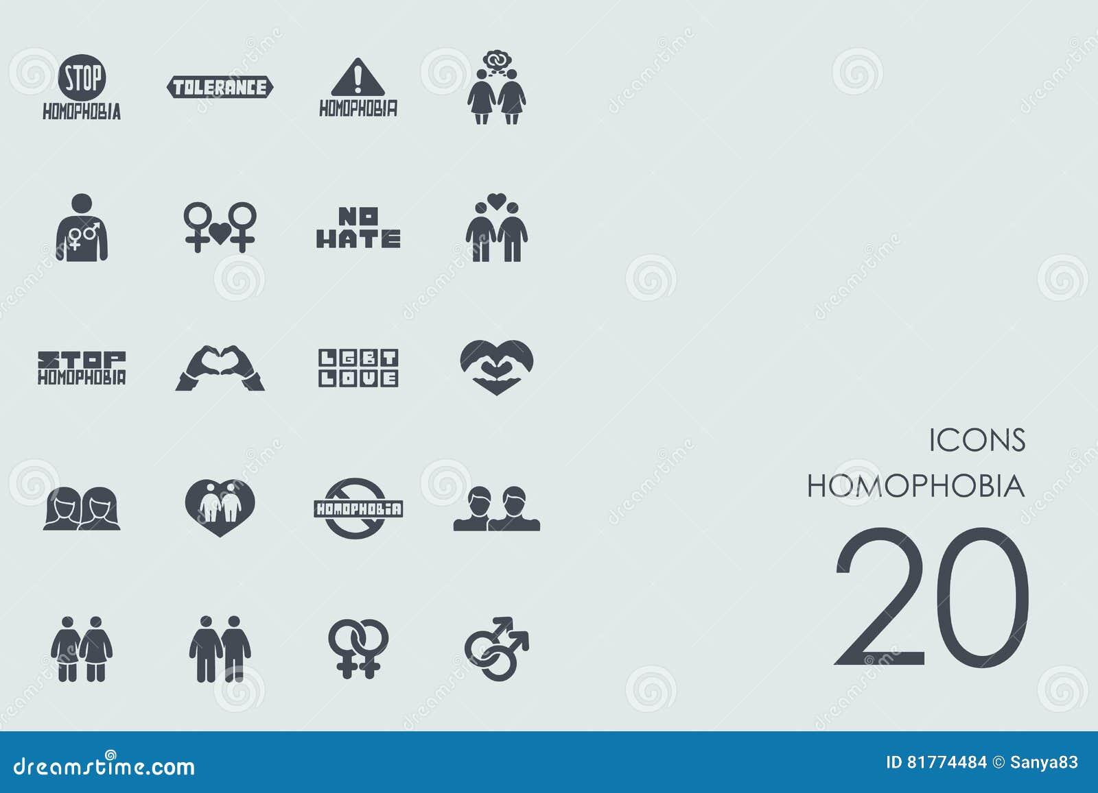 Reeks homophobiapictogrammen