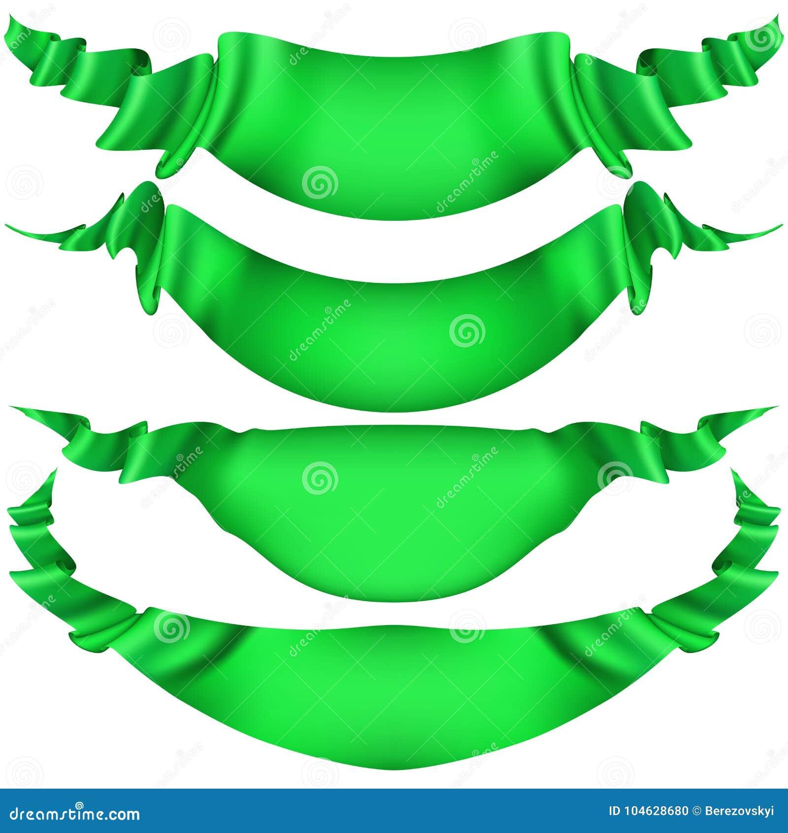 Download Reeks Horizontale Groene Banners EPS 10 Vector Vector Illustratie - Illustratie bestaande uit creatief, uitnodiging: 104628680