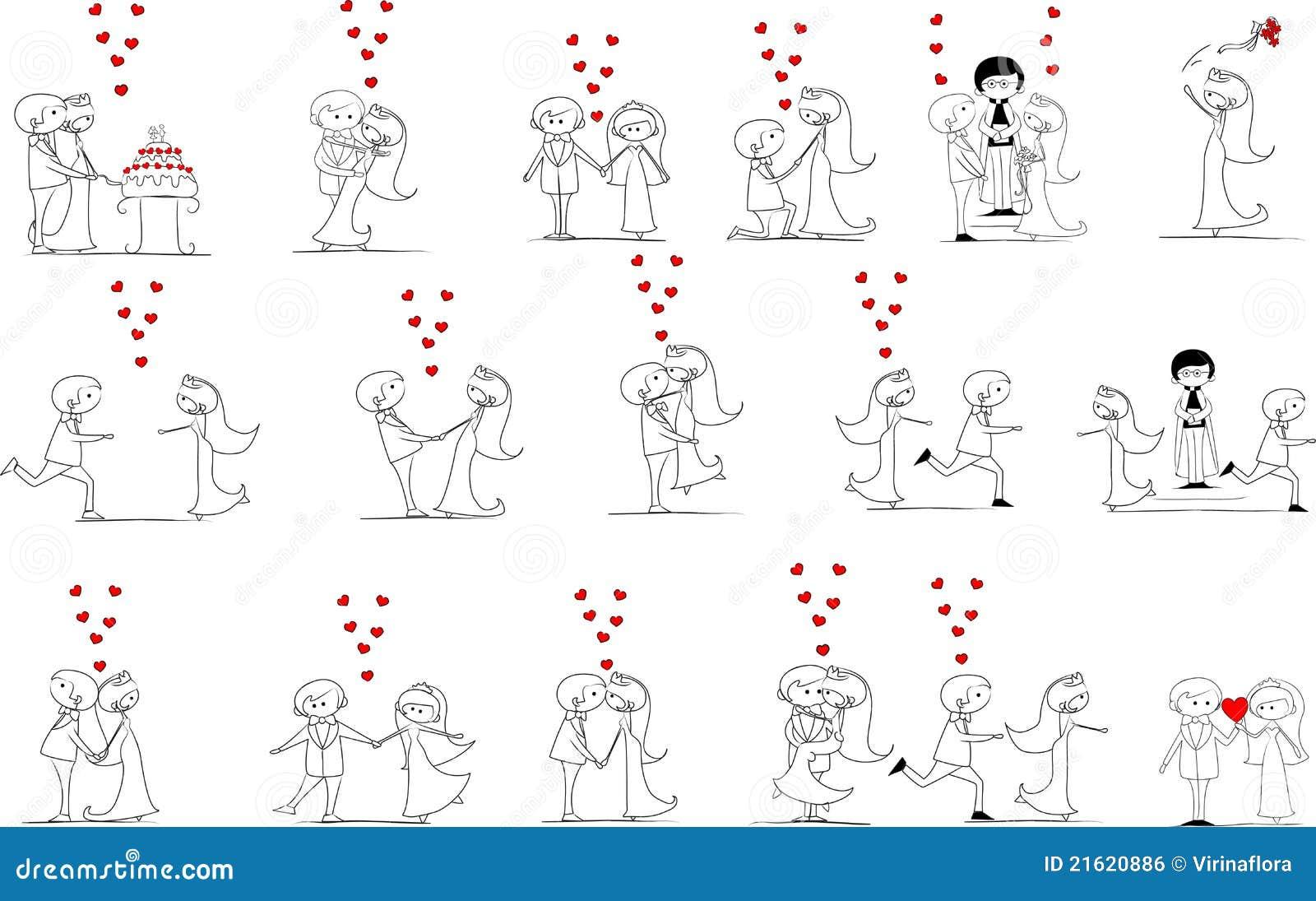 Reeks huwelijksbeelden