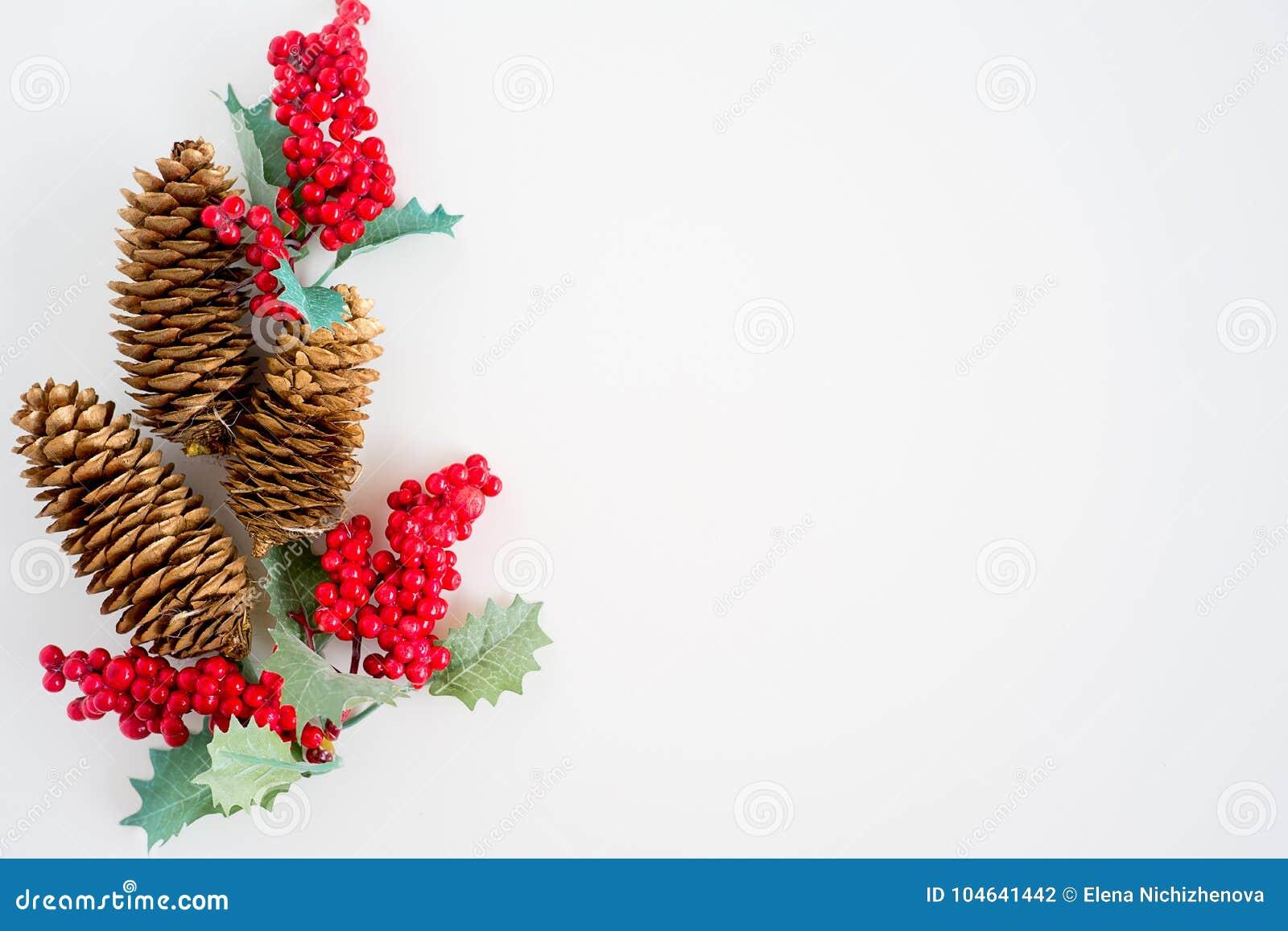Download Reeks Kerstmisdingen stock foto. Afbeelding bestaande uit kegel - 104641442