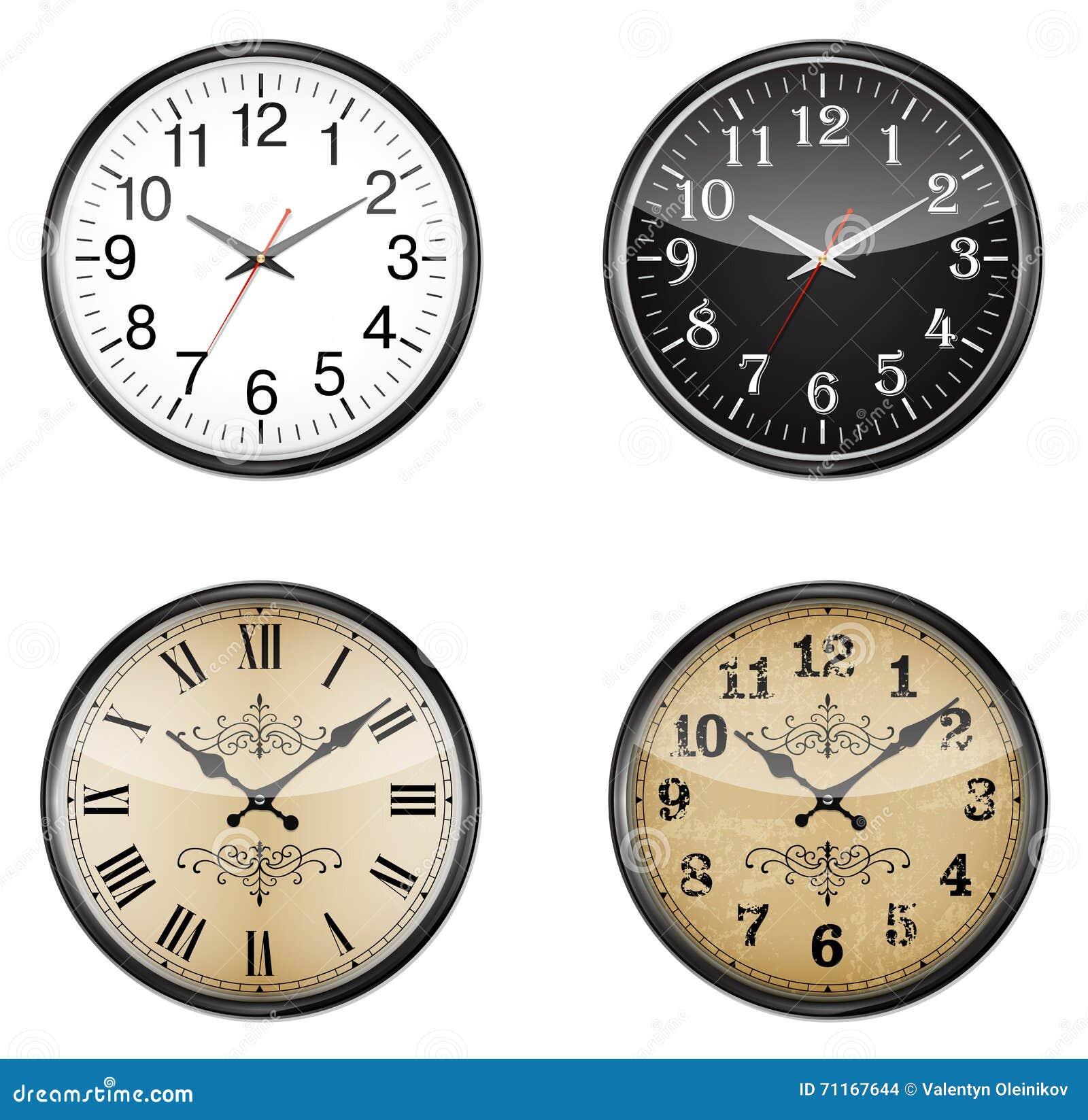 Reeks klokken