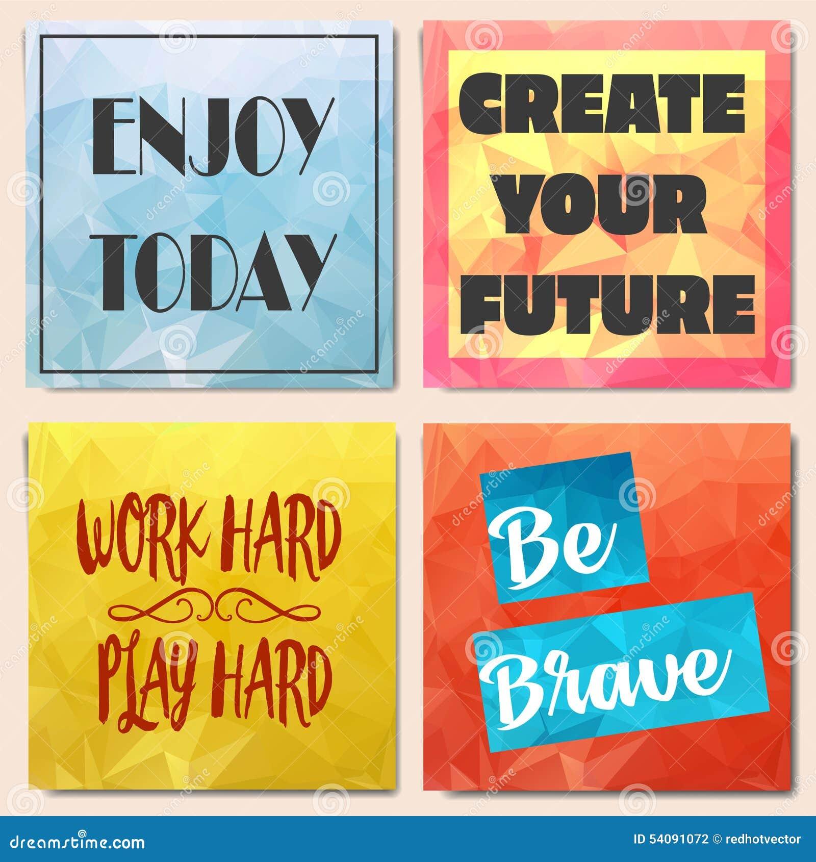 Reeks lage polybrochures met motivatie
