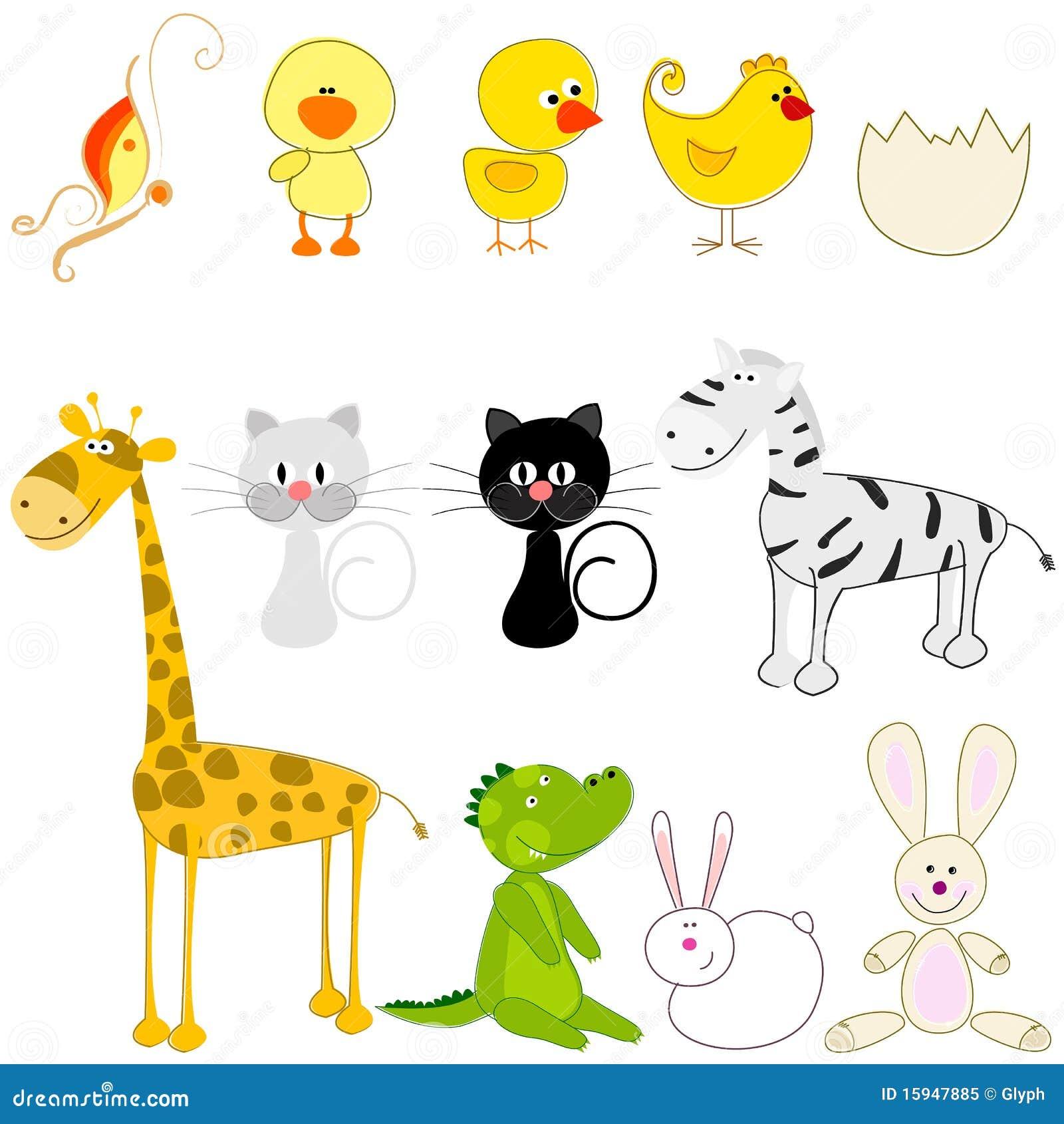 Reeks leuke en grappige dieren