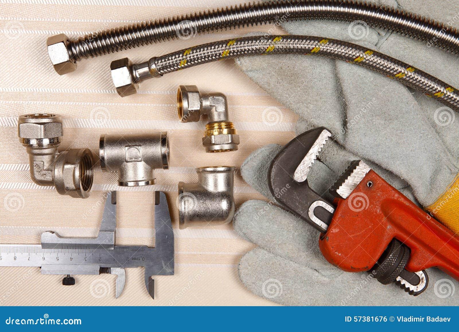 Reeks loodgieterswerk en hulpmiddelen