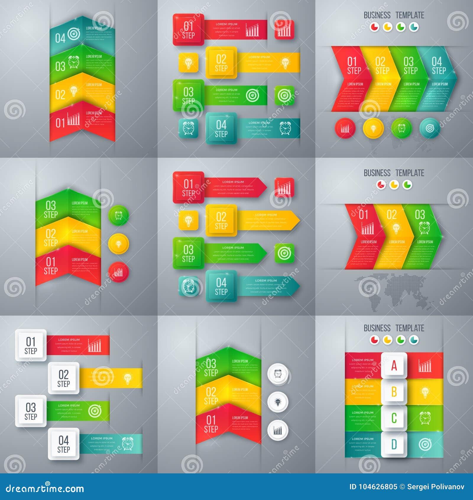 Download Reeks met infographics vector illustratie. Illustratie bestaande uit samenvatting - 104626805