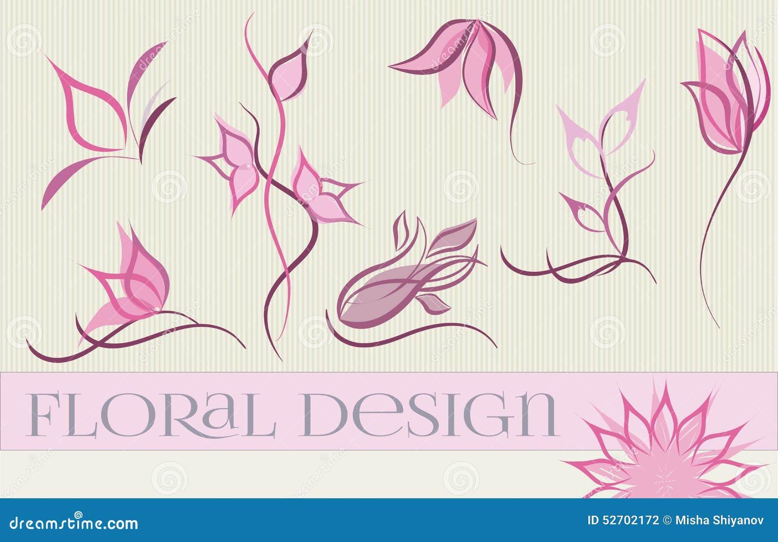 Reeks ontwerpen van het bloemembleem