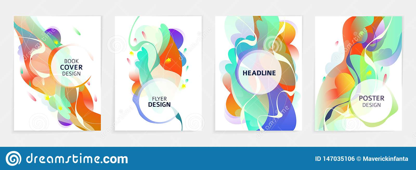 Reeks ontwerpen voor vlieger, broshure, de dekking van het boek, affiche, Web, jaarverslag