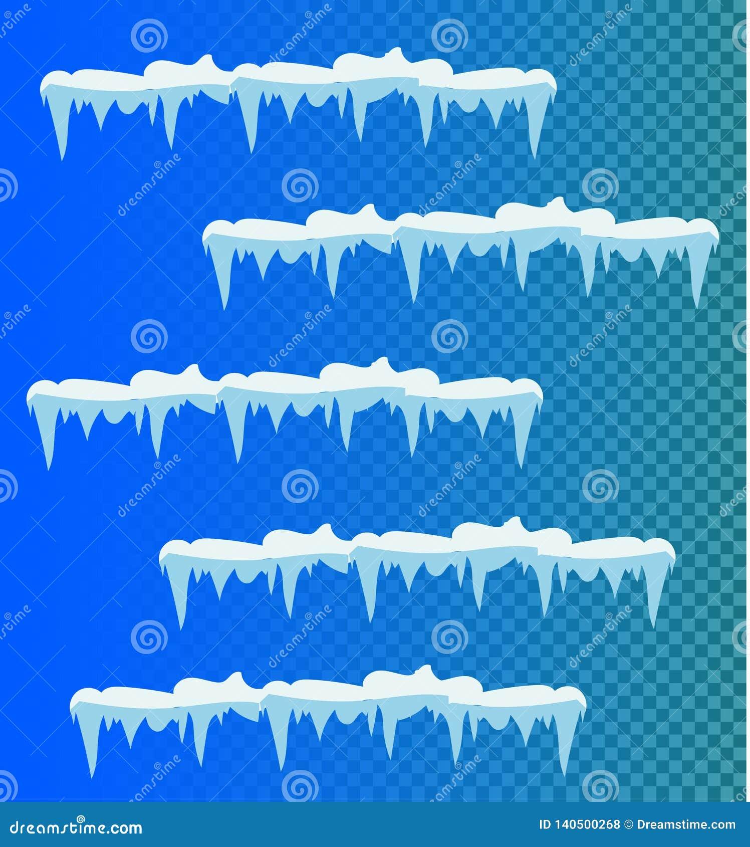 Reeks sneeuwijskegels, sneeuw GLB
