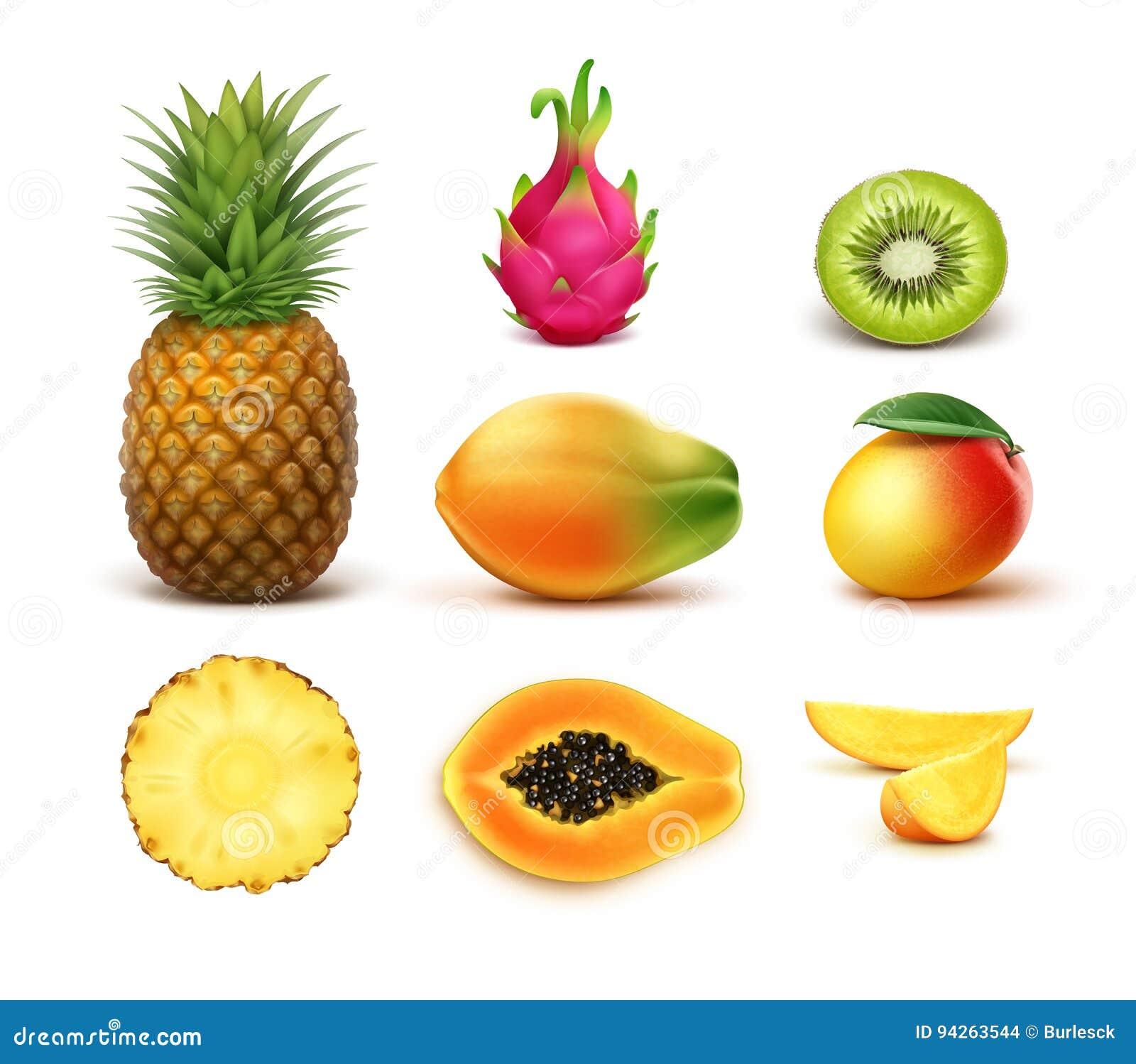Reeks tropische vruchten