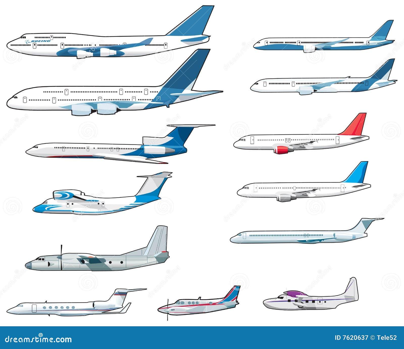 Reeks van burger airplananes
