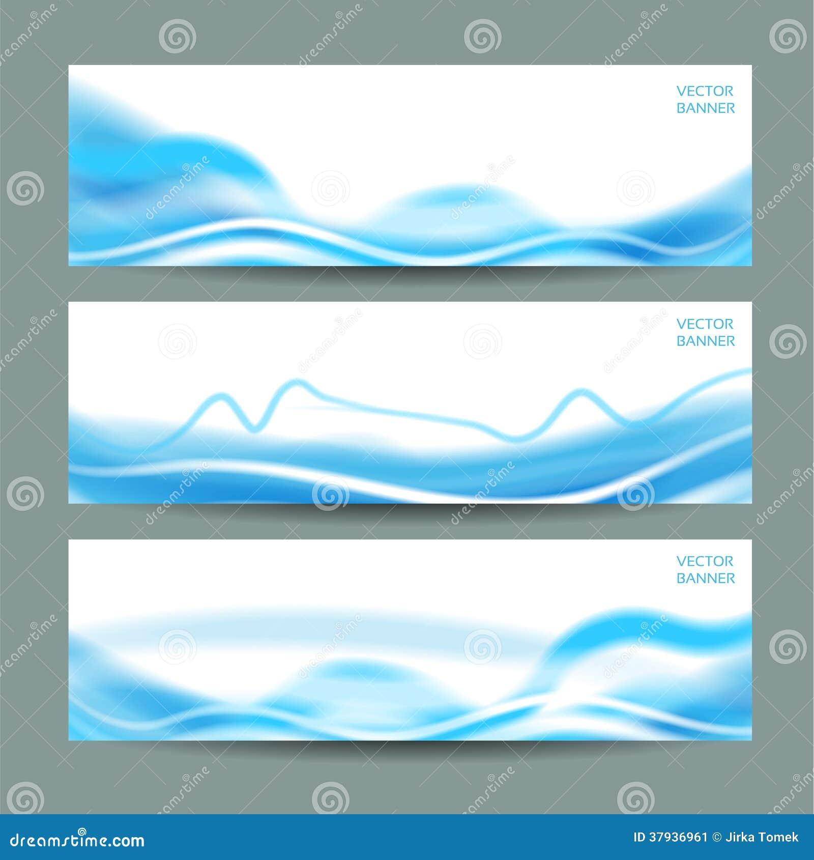 Reeks van drie abstracte banners