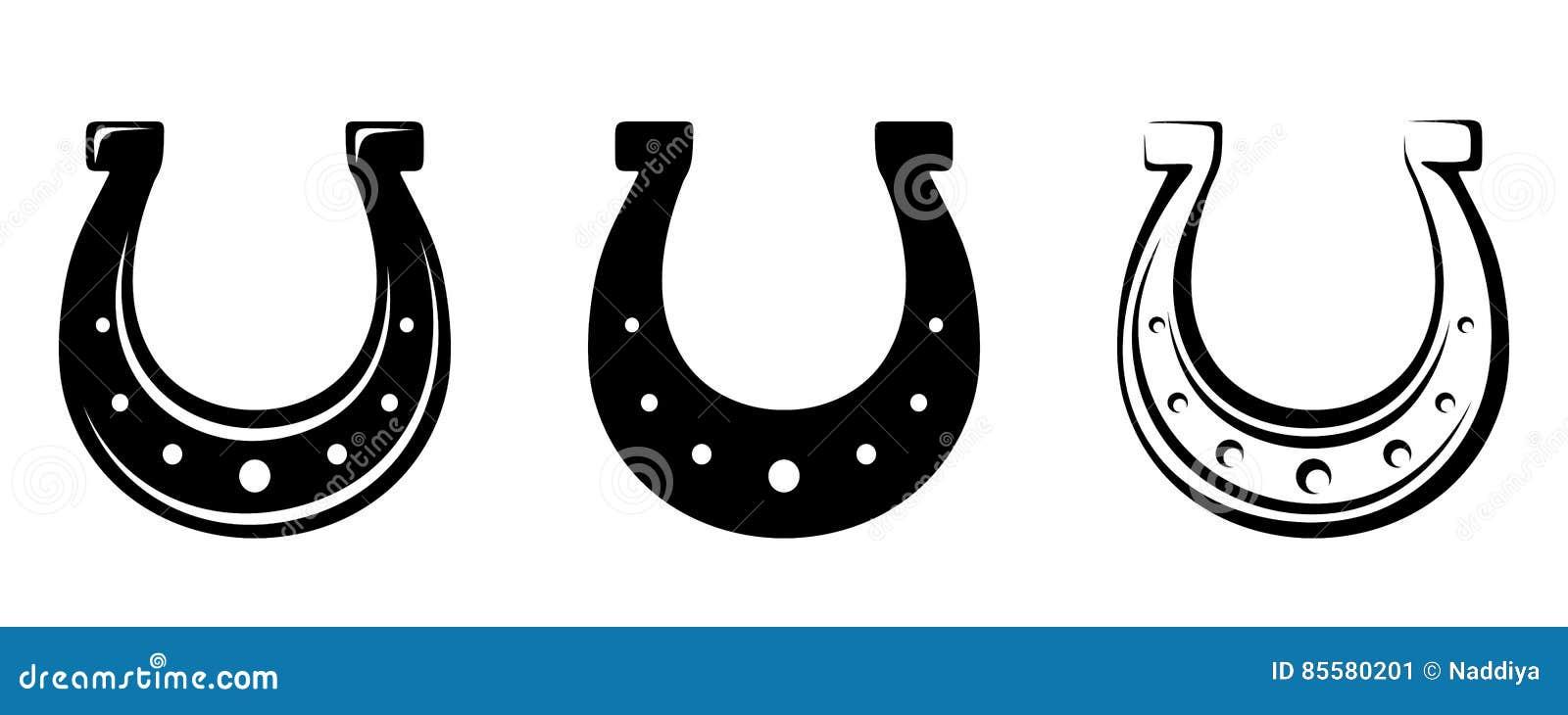 Reeks van drie hoeven Vector zwarte silhouetten