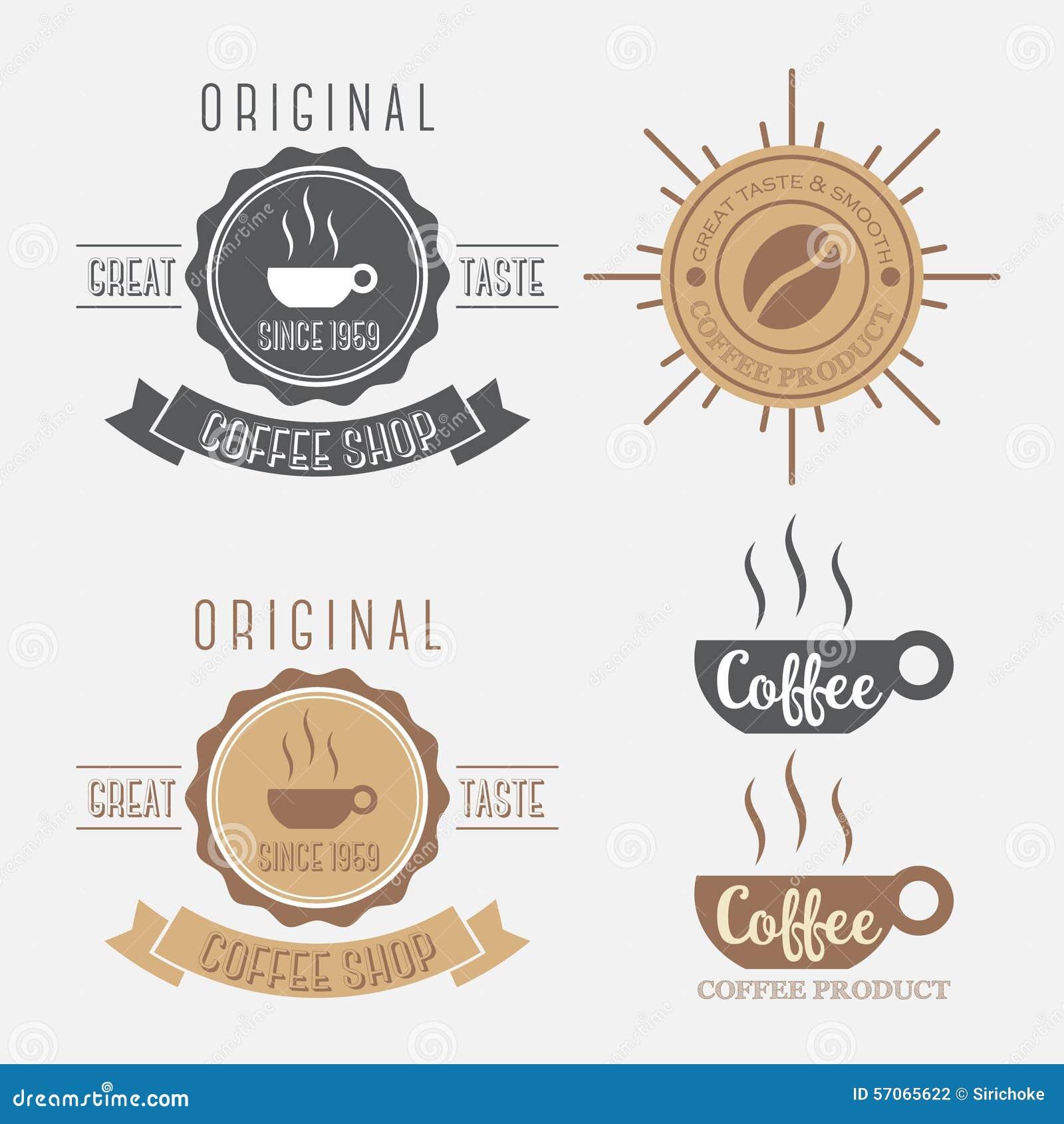 Reeks van het embleem van de koffiebanner