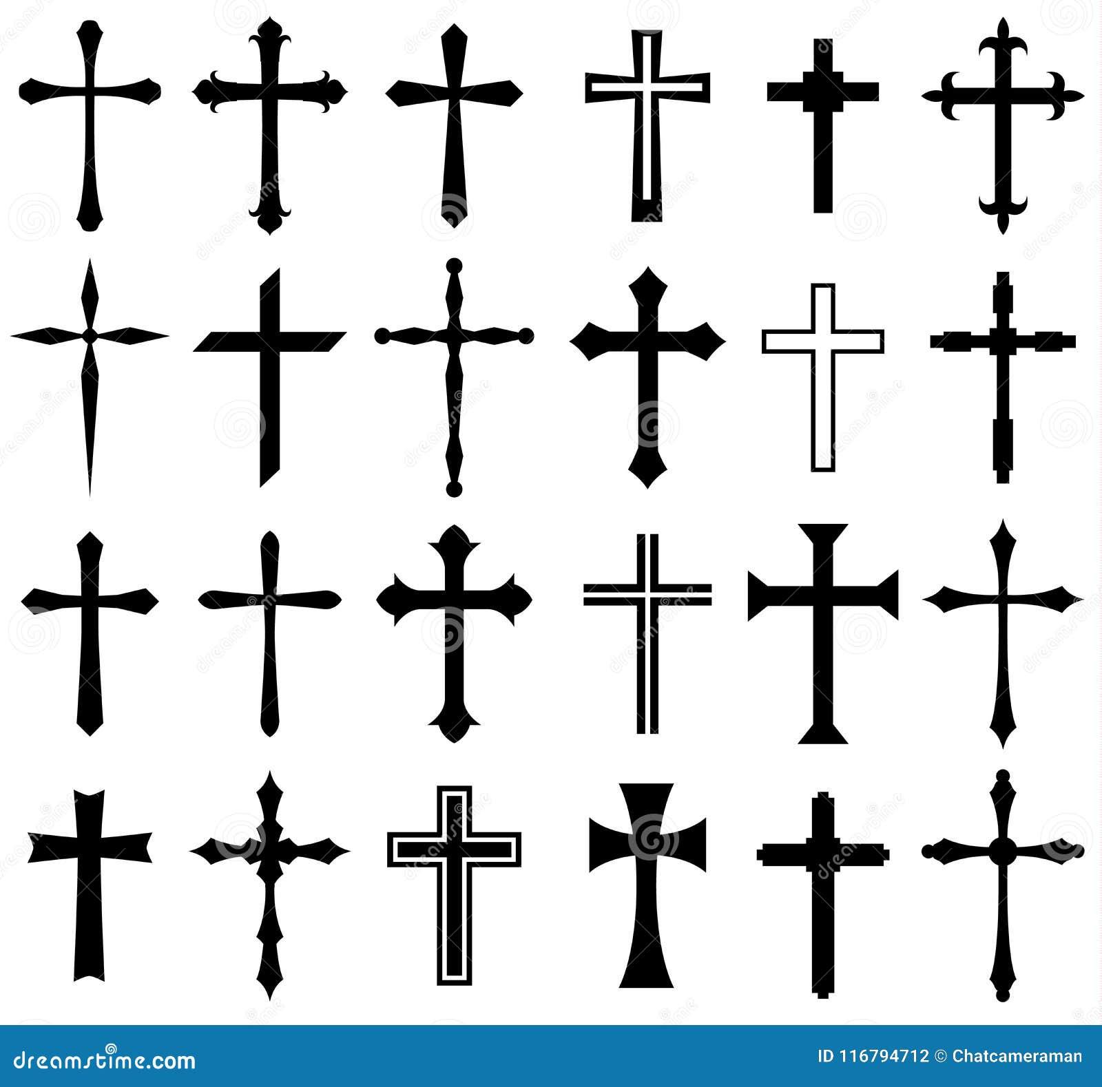 Reeks van het godsdienst de dwarspictogram