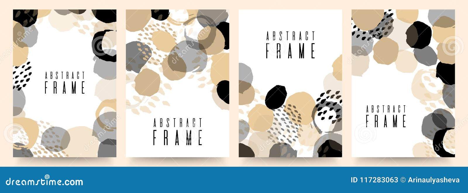 Reeks van het malplaatjeontwerp van de verkoopbanner Voor online opslag, plaats Vector illustratie Kleurenborstel, neutrale veelz
