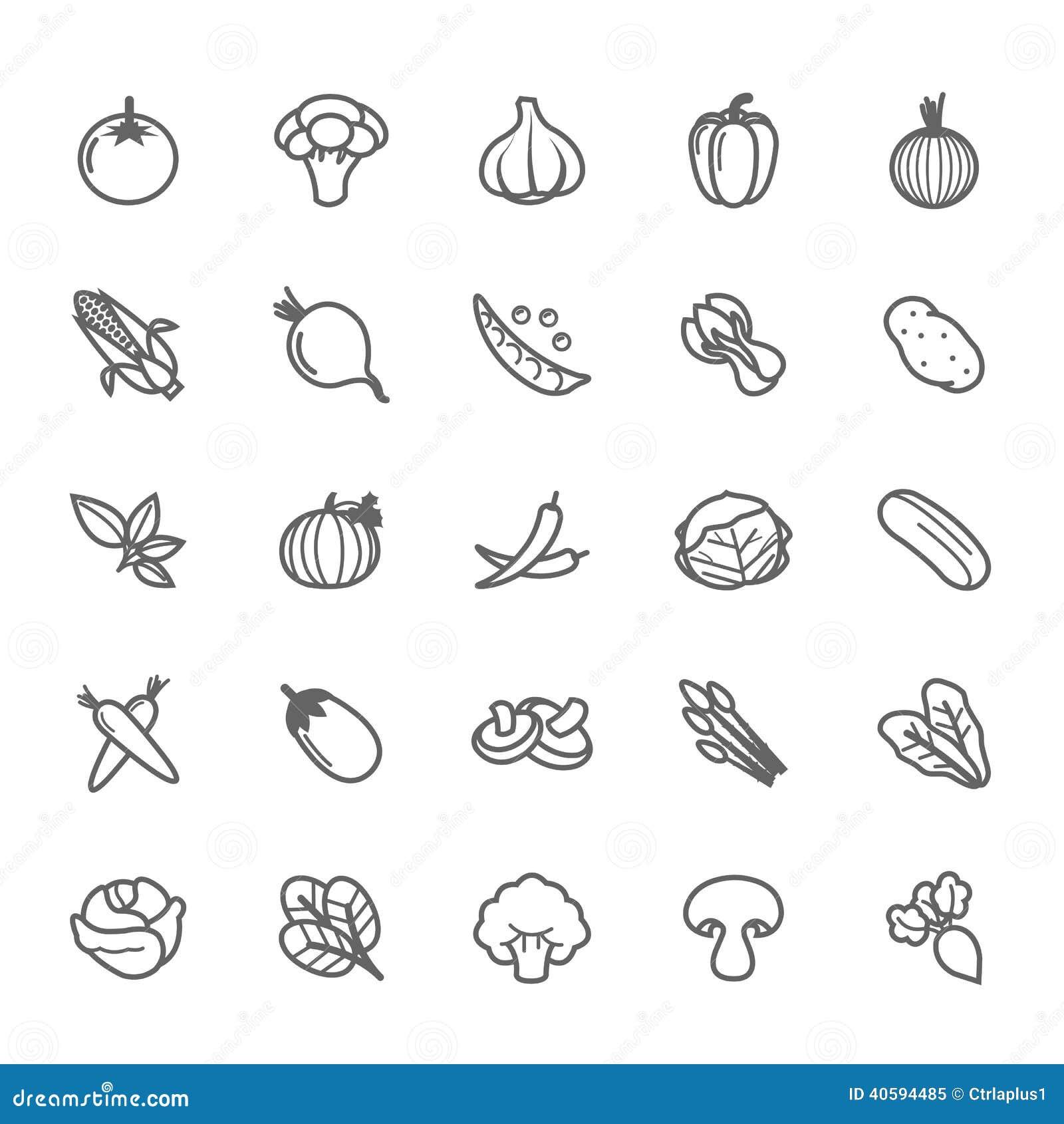 Reeks van het Plantaardige pictogram van de Overzichtsslag