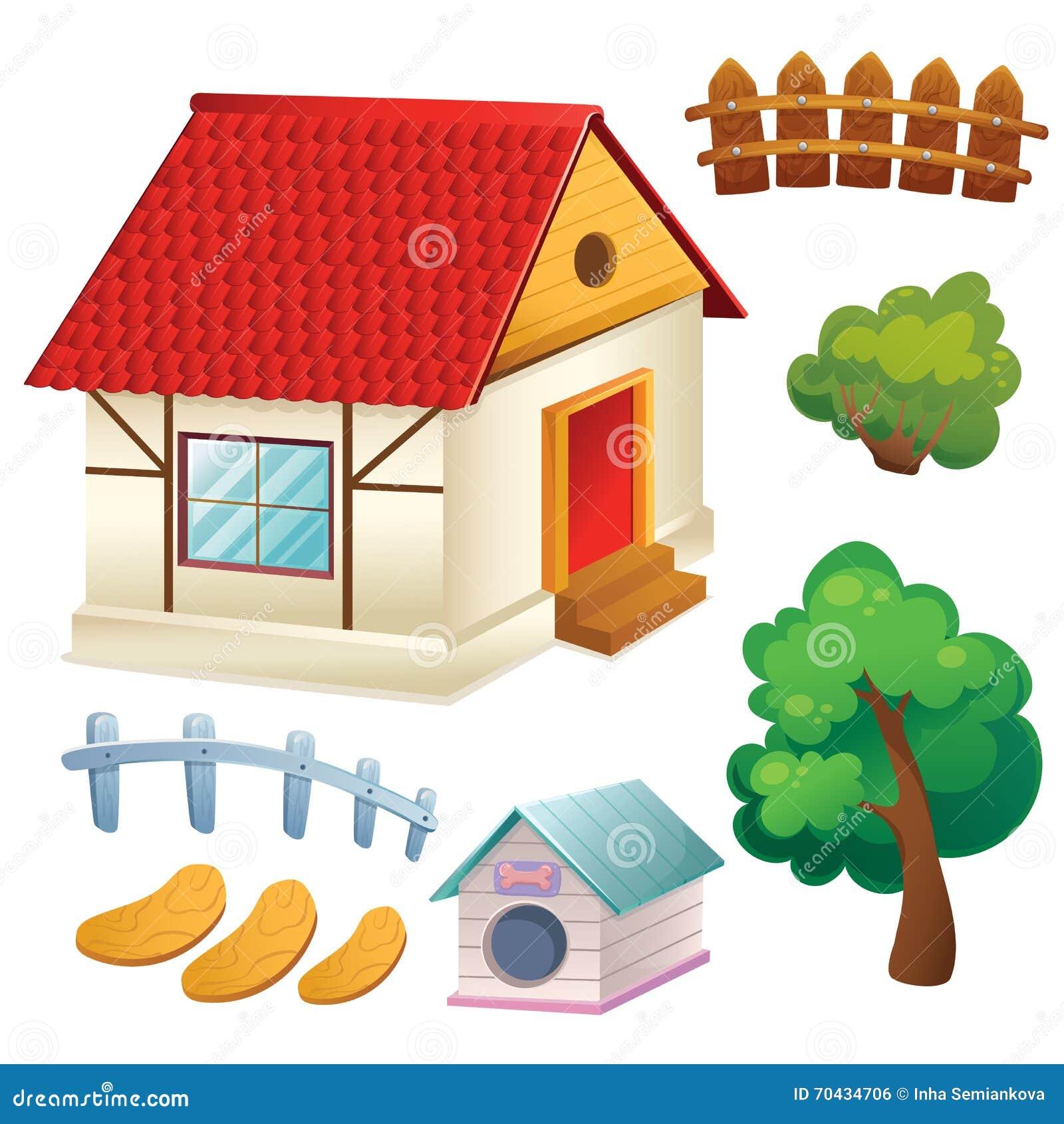 Reeks van Huisbomen en Omheining