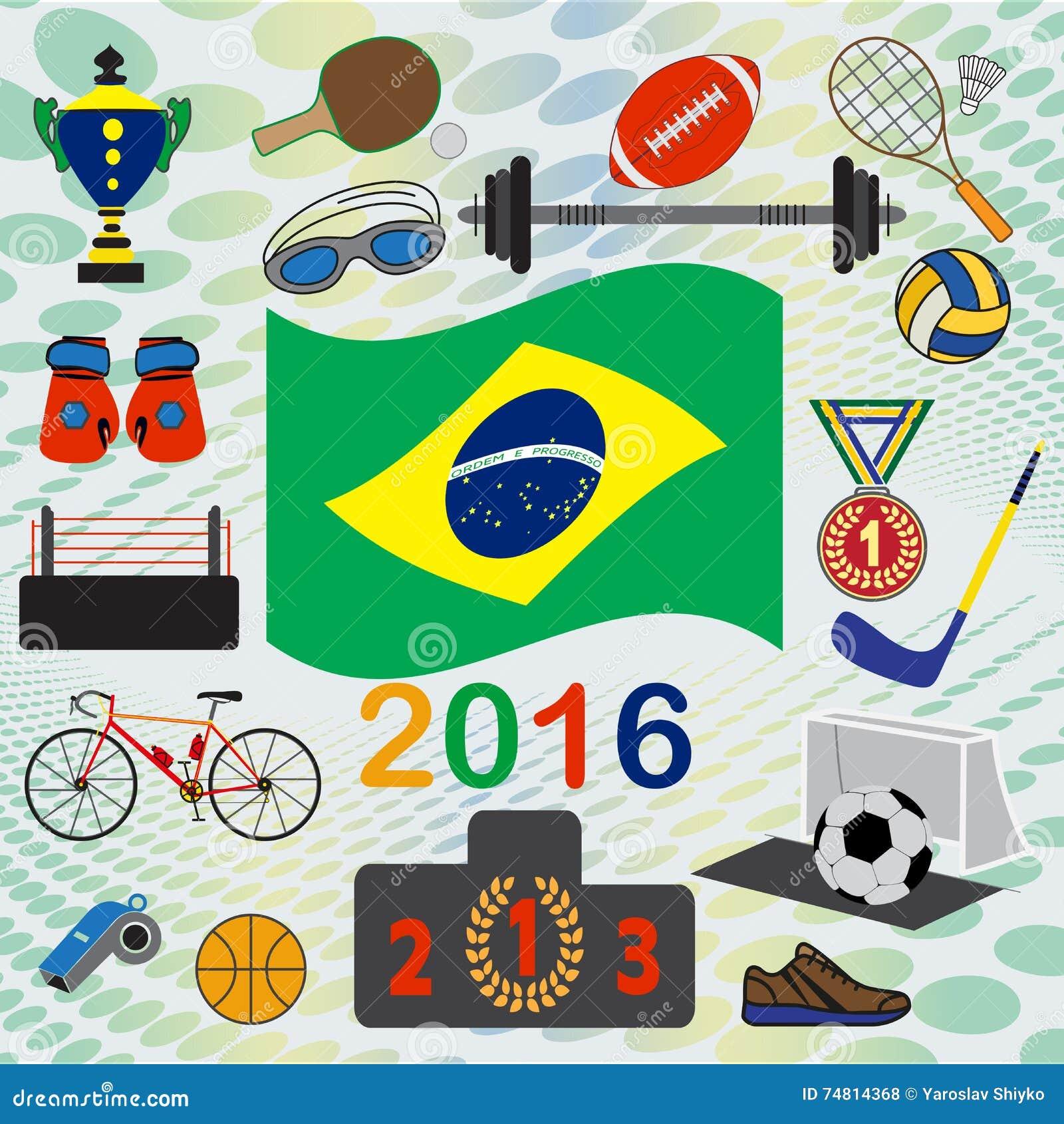 Reeks van nationaal en sport simbols