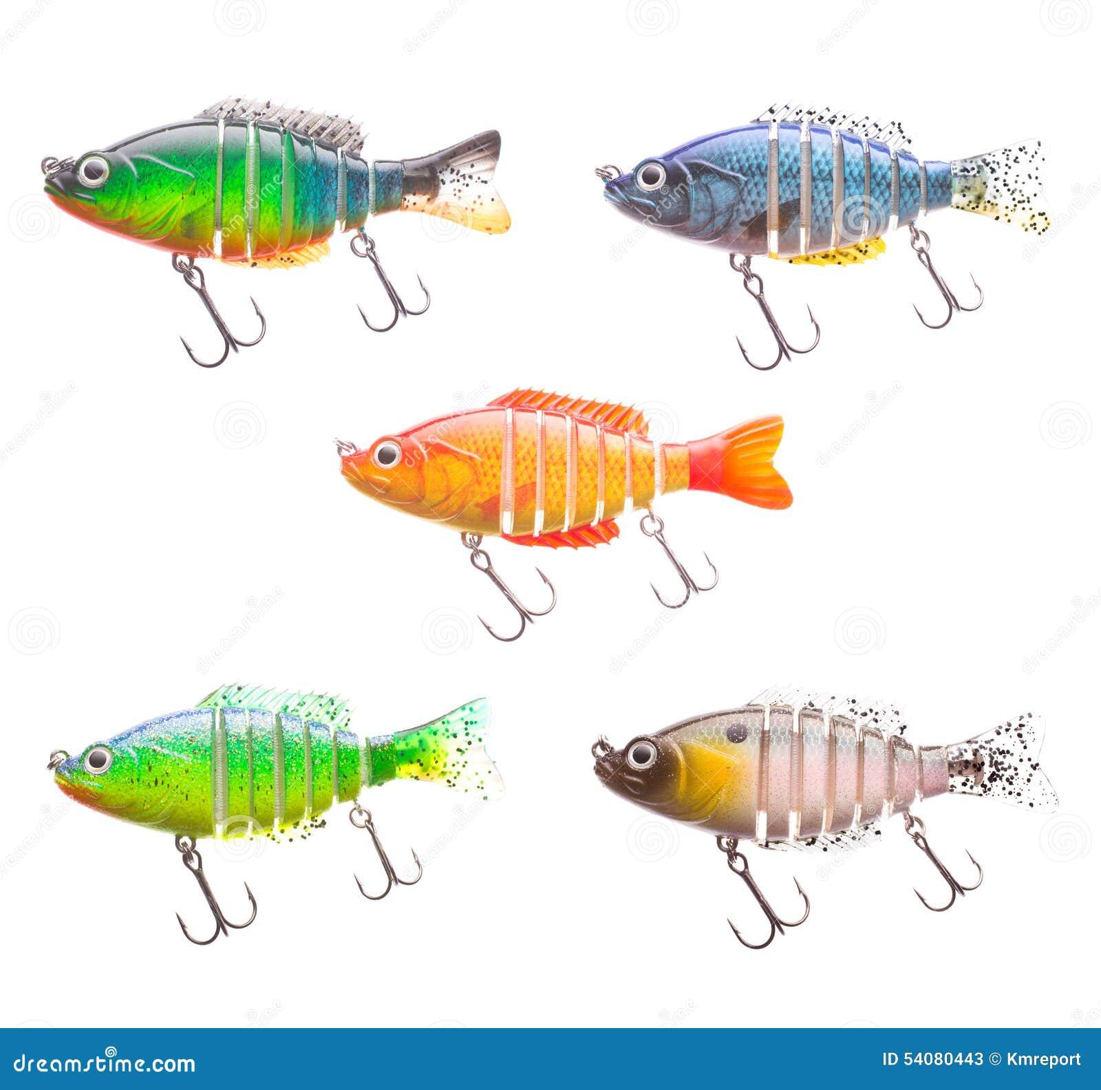 Reeks van plastic vissenaas