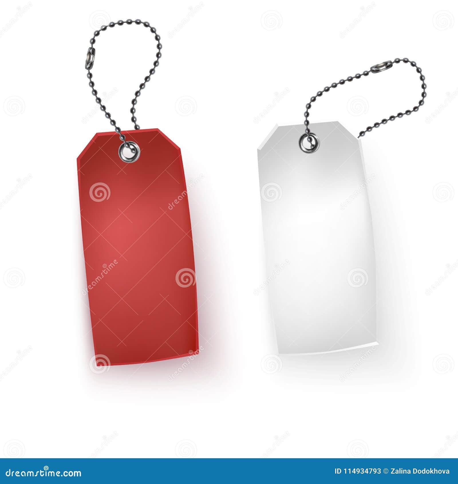 Reeks van realistische de verkoop vectorillustratie markeringen van de bedrijfs lege kleinhandelskaartkorting Rode en witte verko