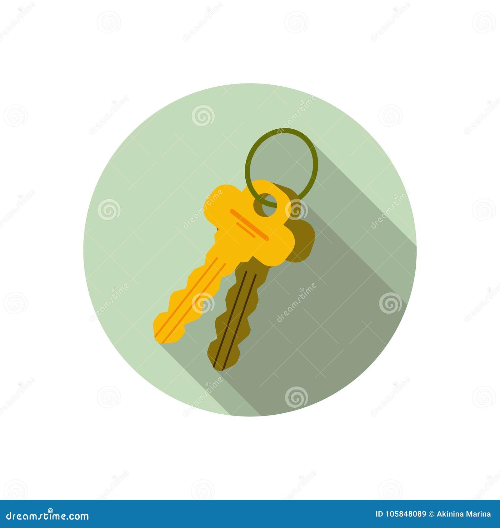 Reeks van 2 sleutels, sleutelbos