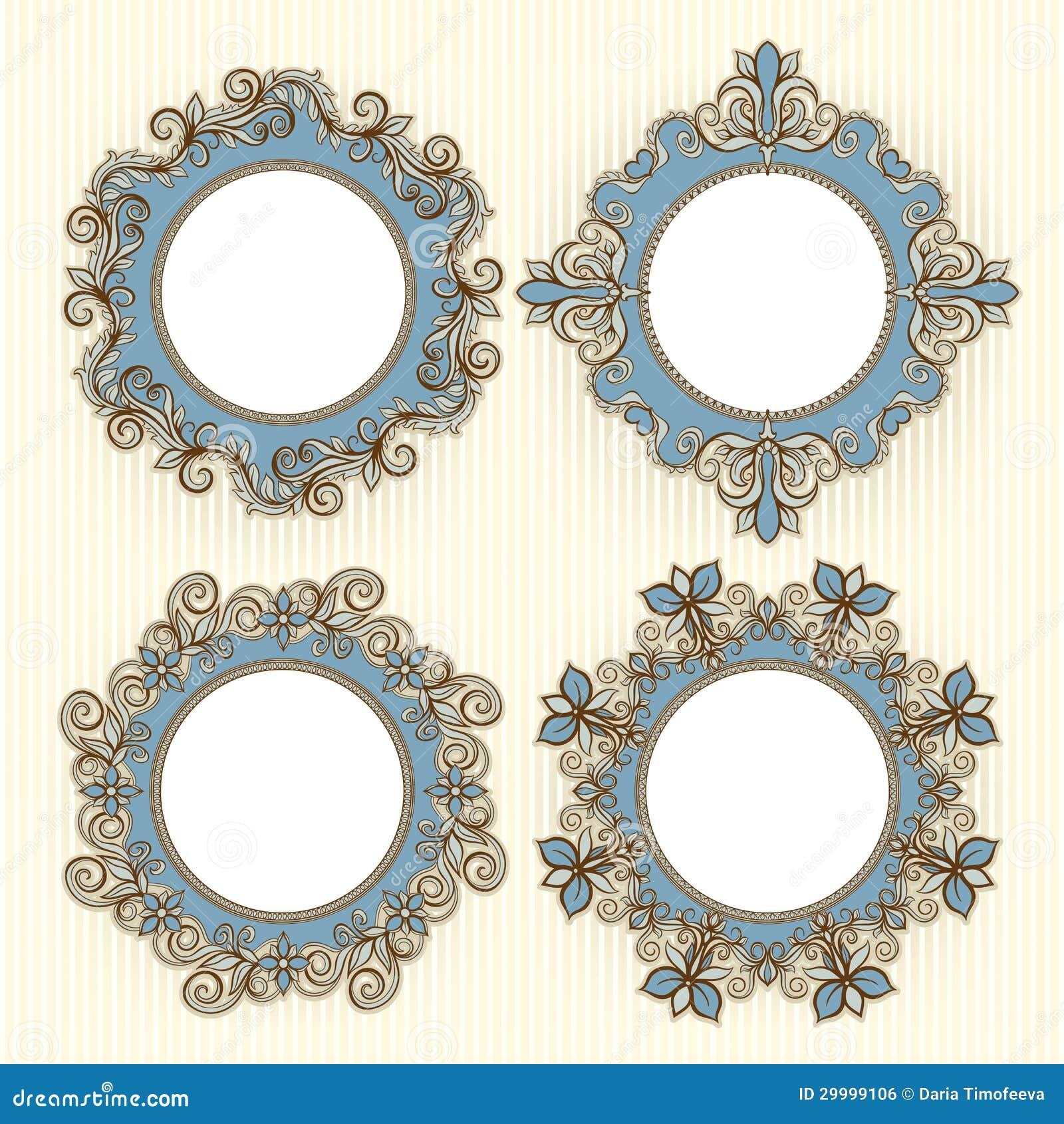 Vier mooie kaders royalty vrije stock afbeelding afbeelding 29999106 - Een mooie kamer van een mooie meid ...