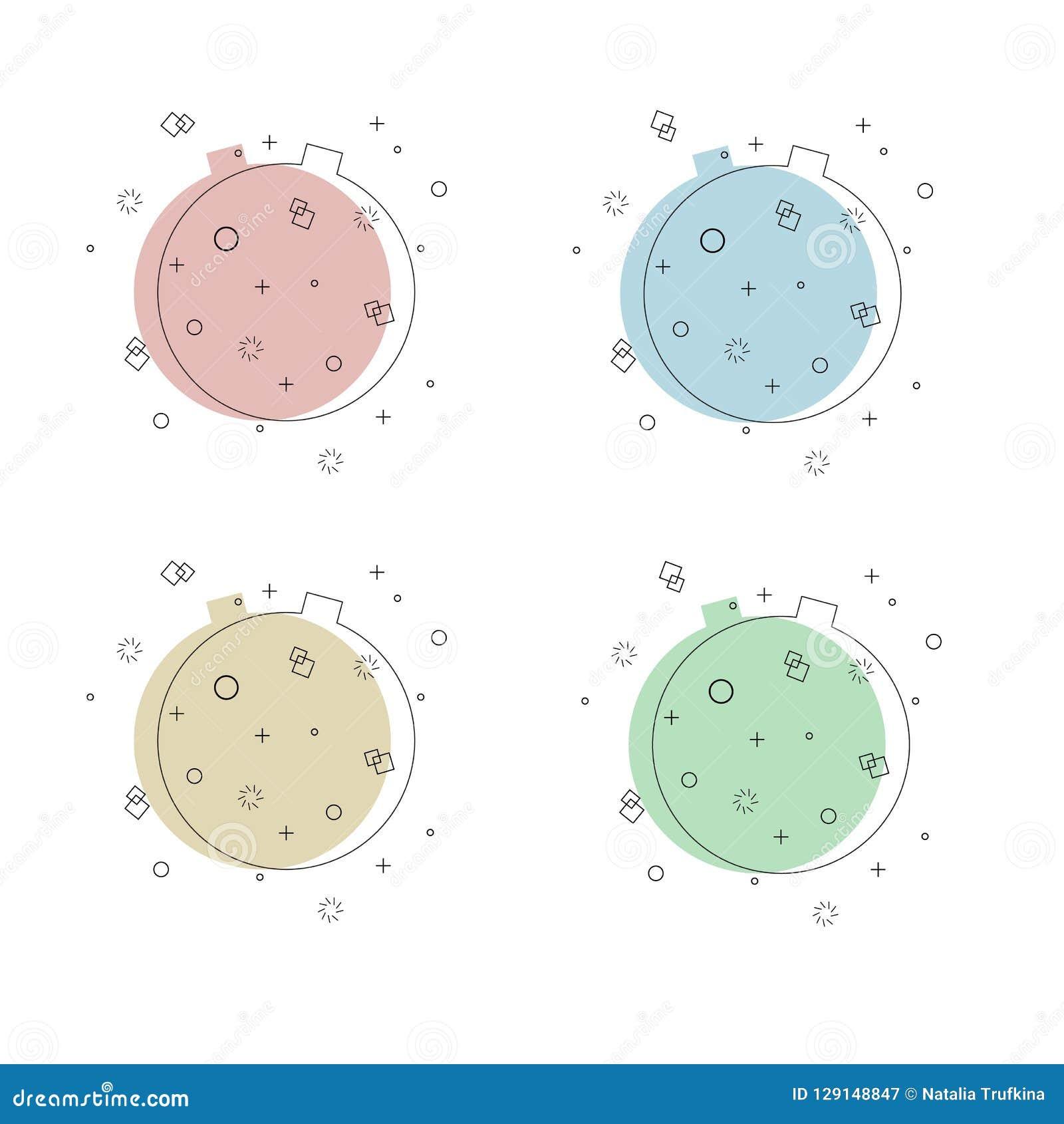 Reeks van in vlakke geometrische vectorachtergrond