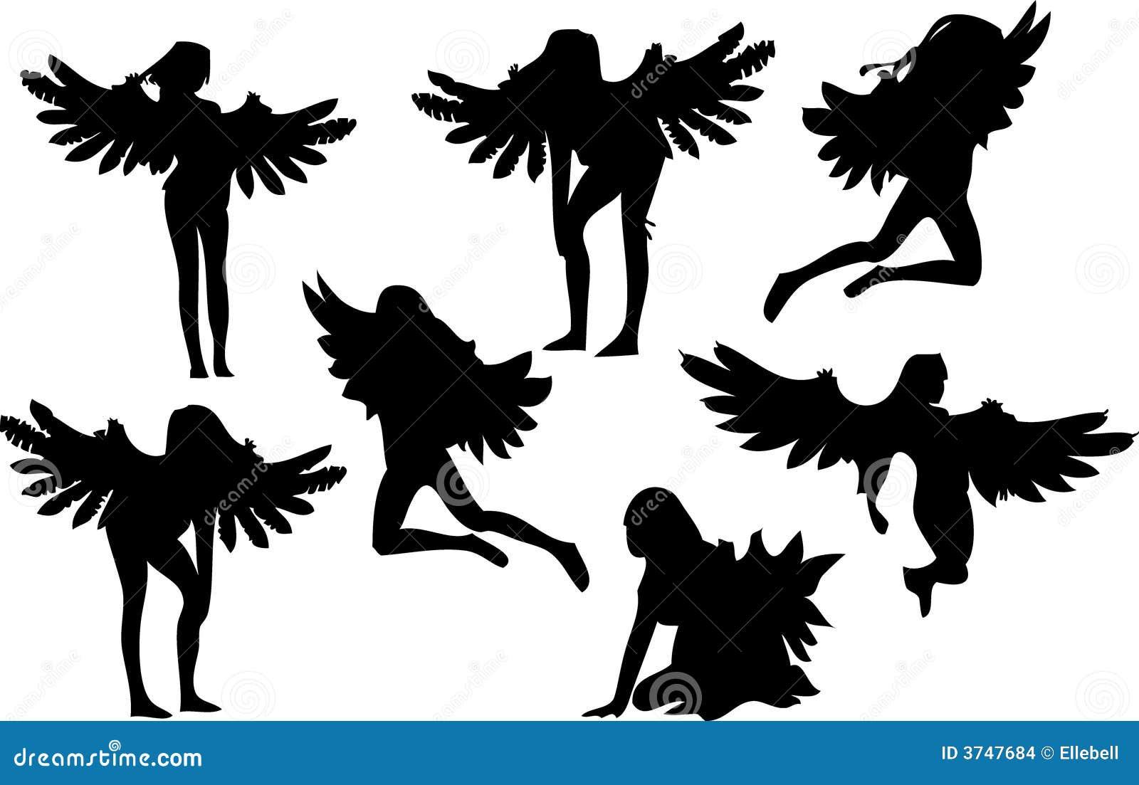 Reeks van Zeven Silhouetten van de Engel