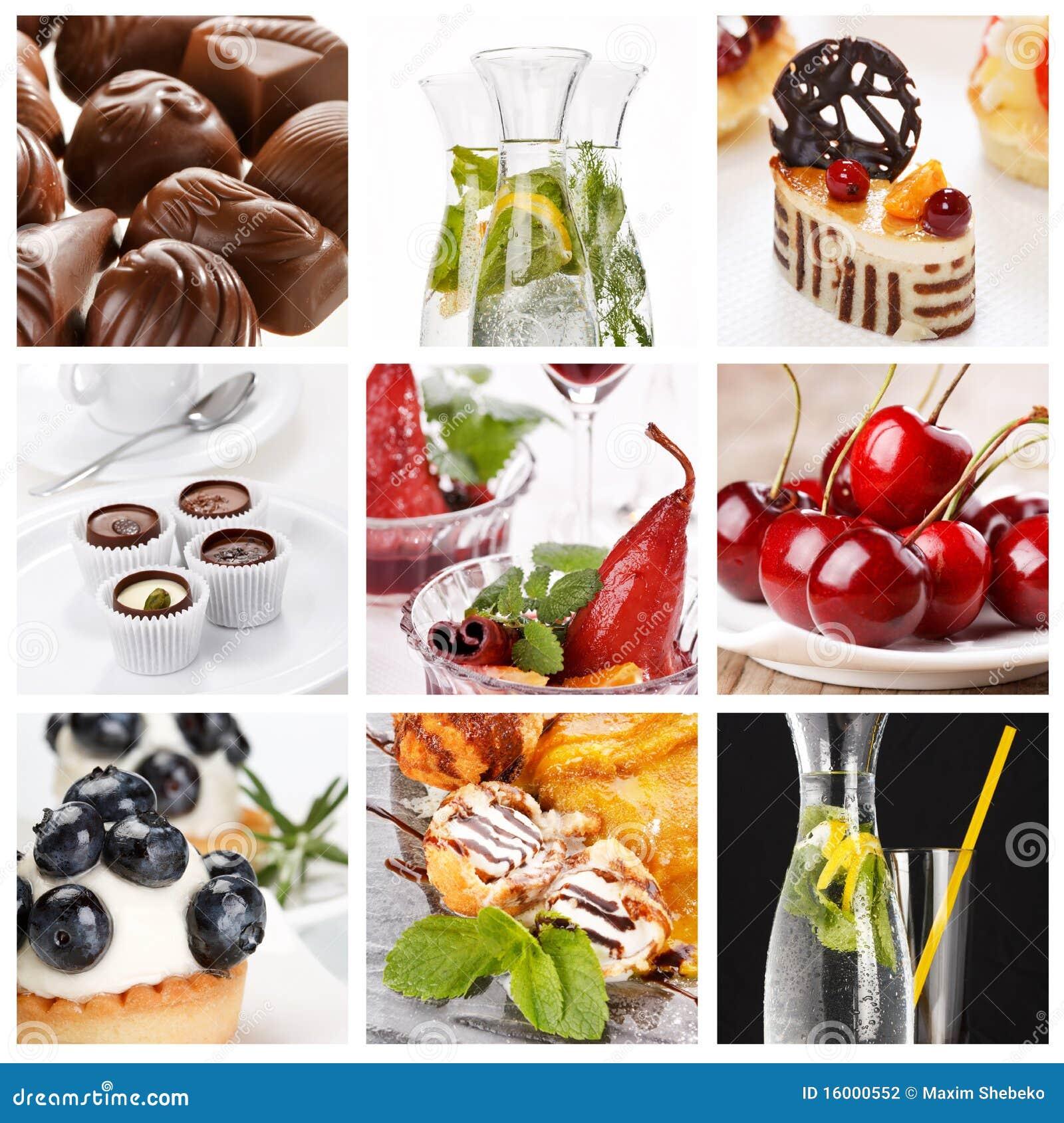 Reeks verschillende desserts