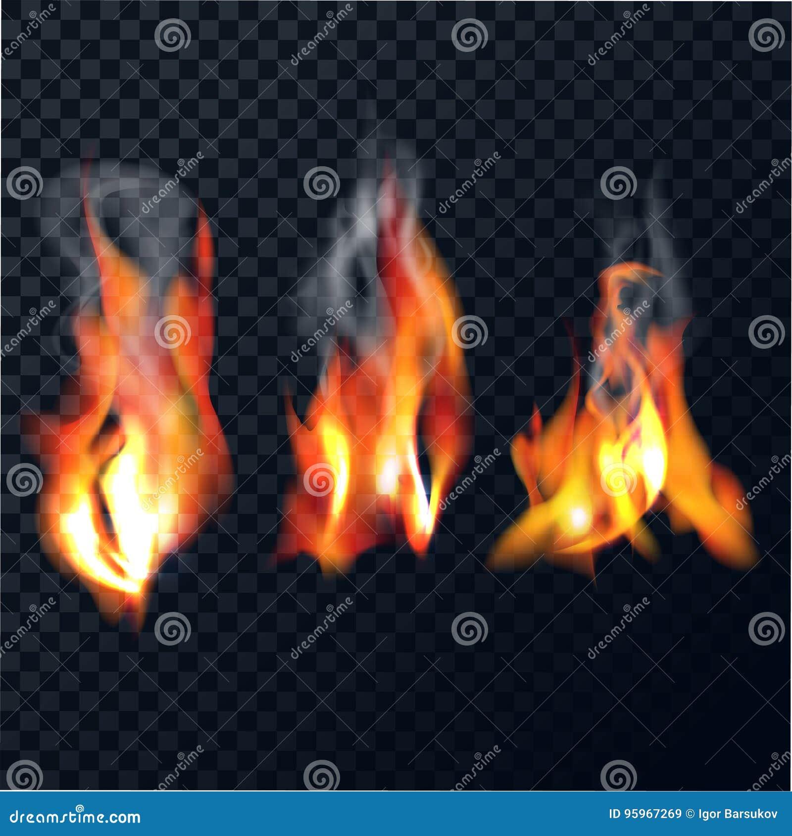 Reeks vlammen