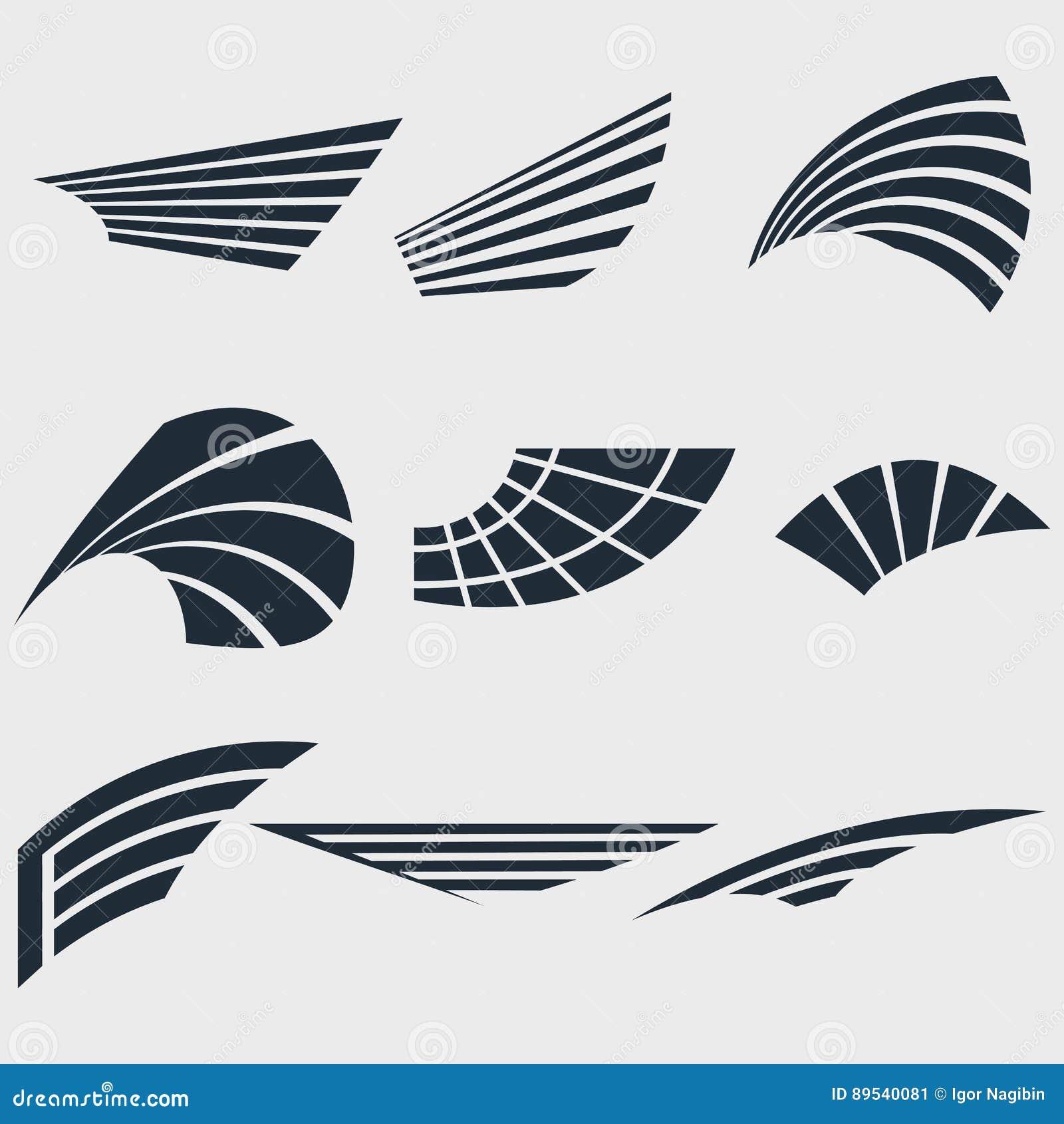 Reeks vleugels