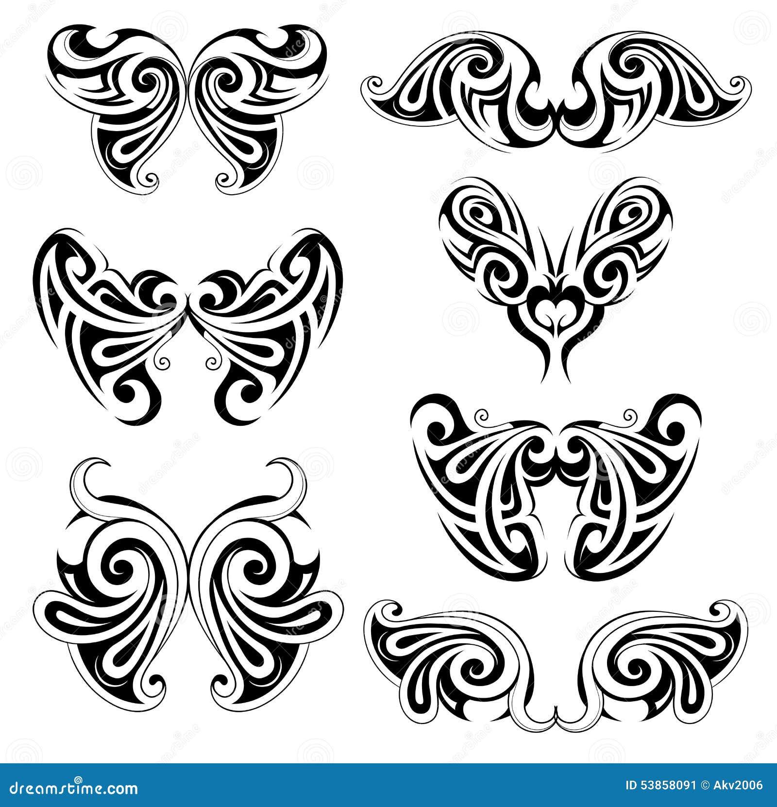 Reeks vleugelvormen