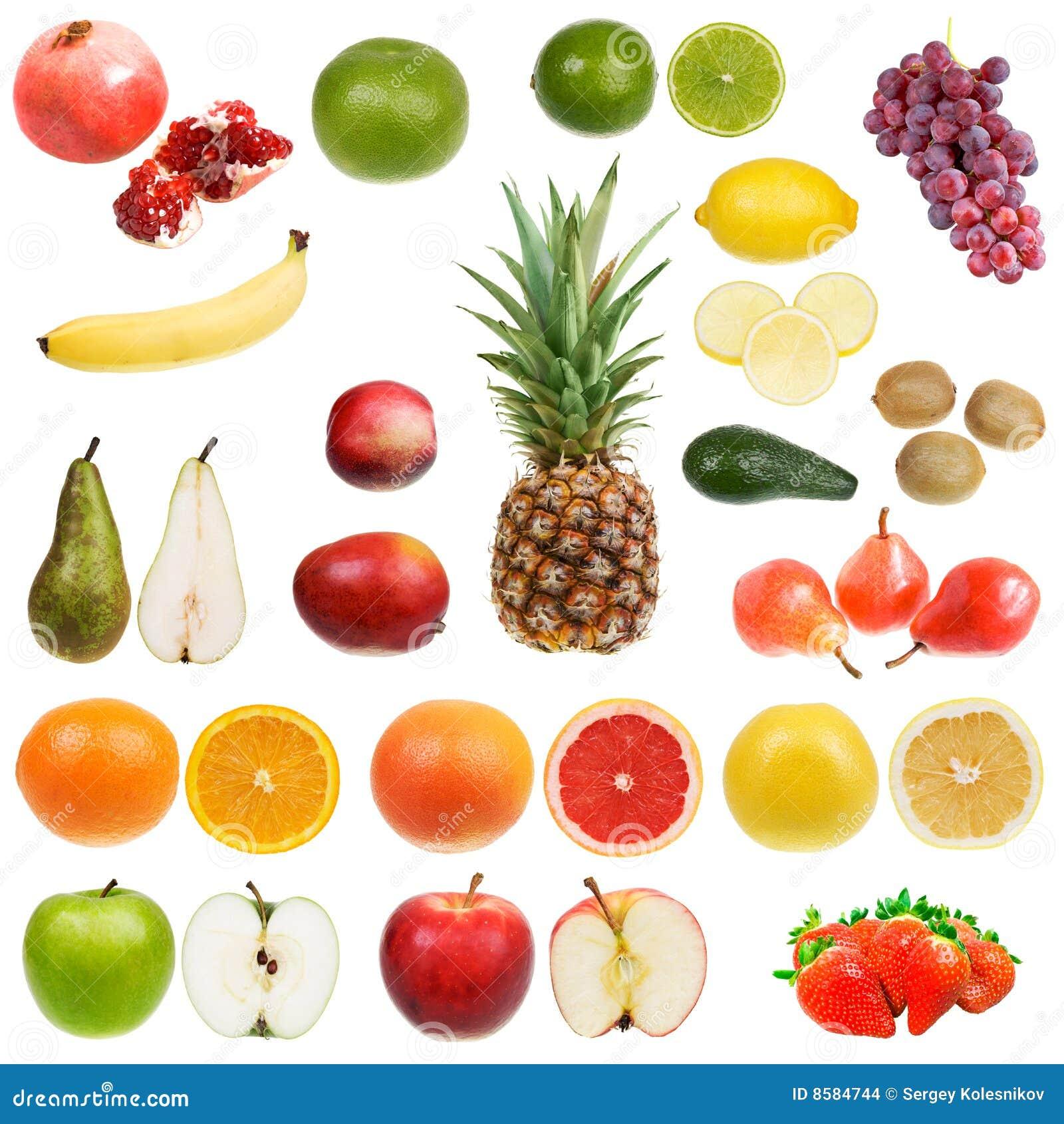 Reeks vruchten