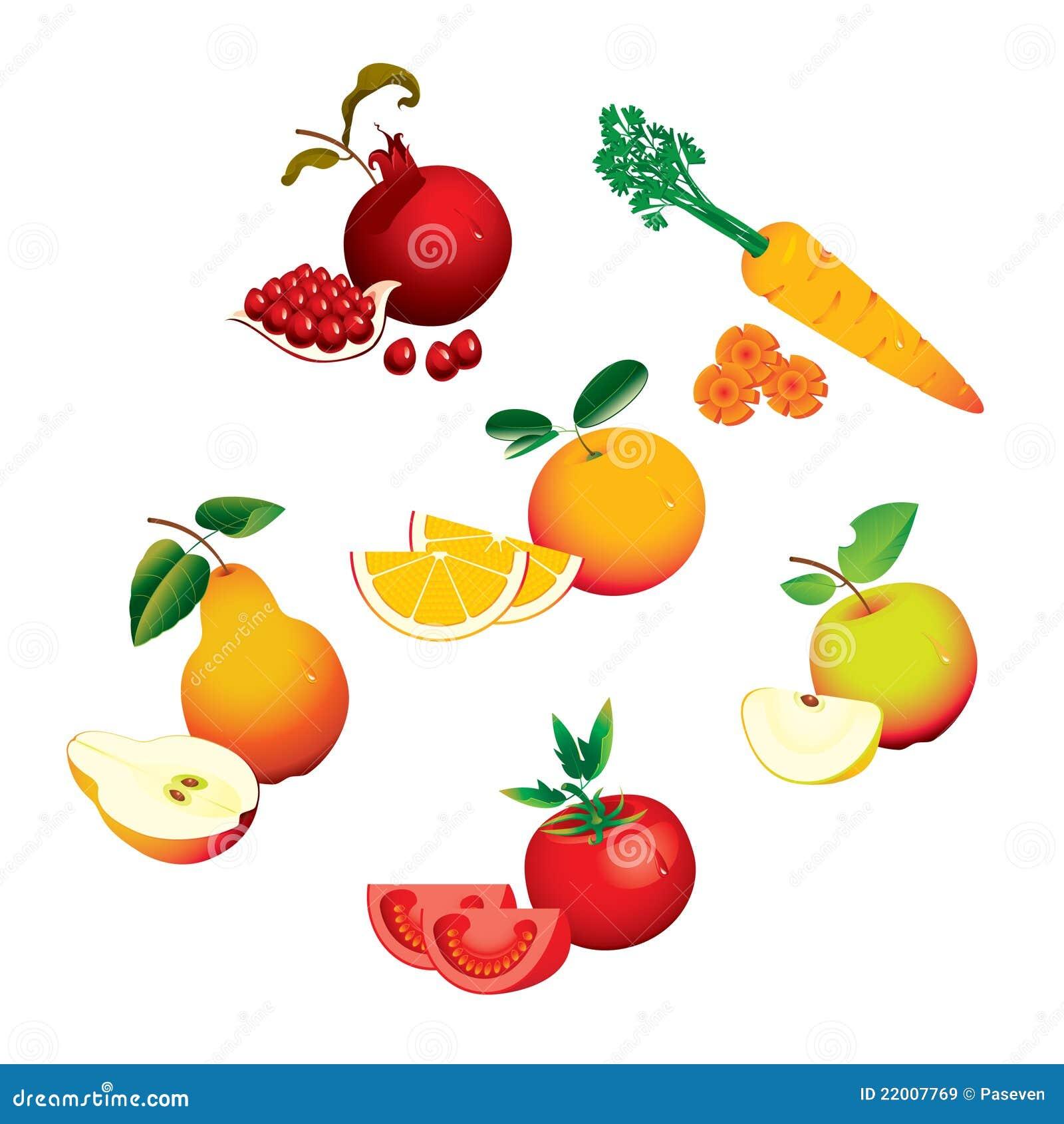 Reeks vruchten groenten