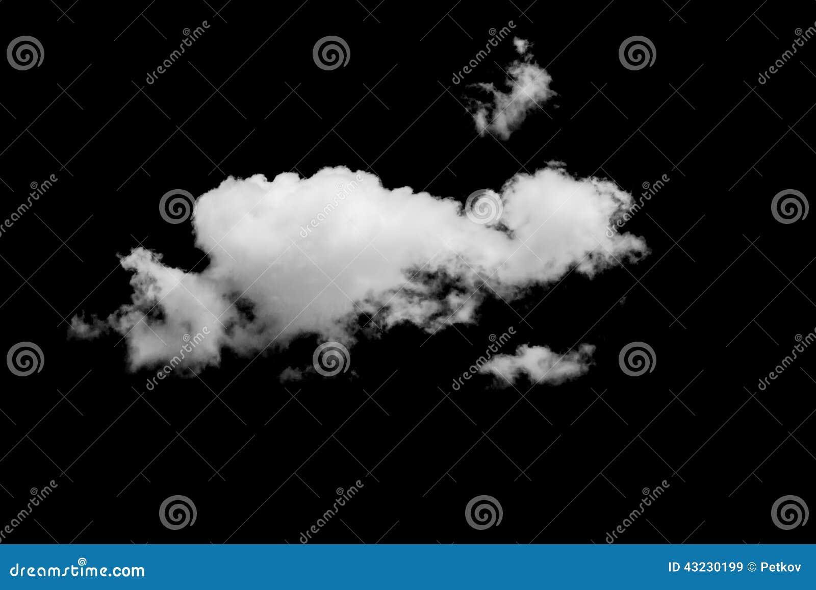 Reeks wolken over zwarte