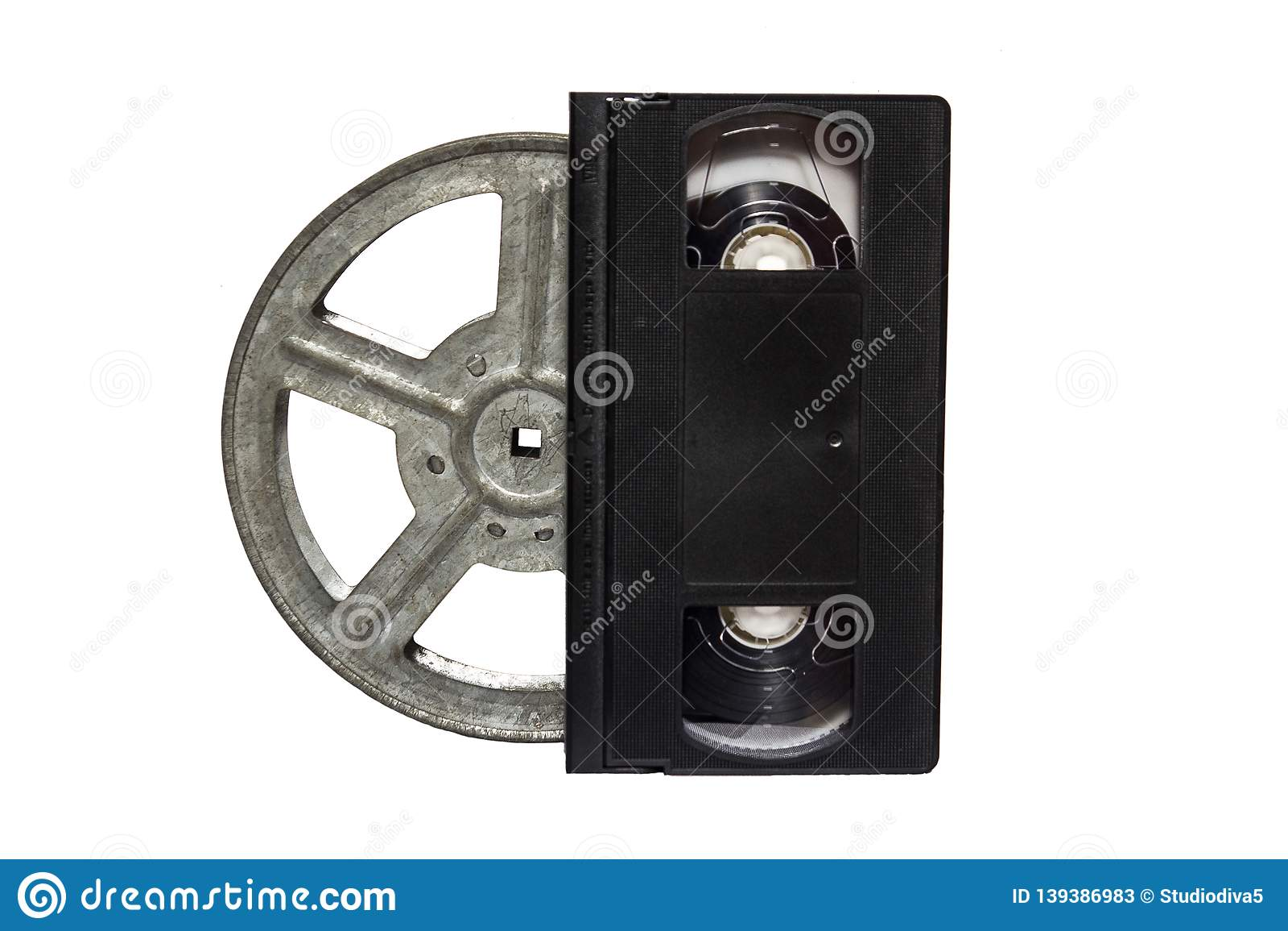 reel of film on white background