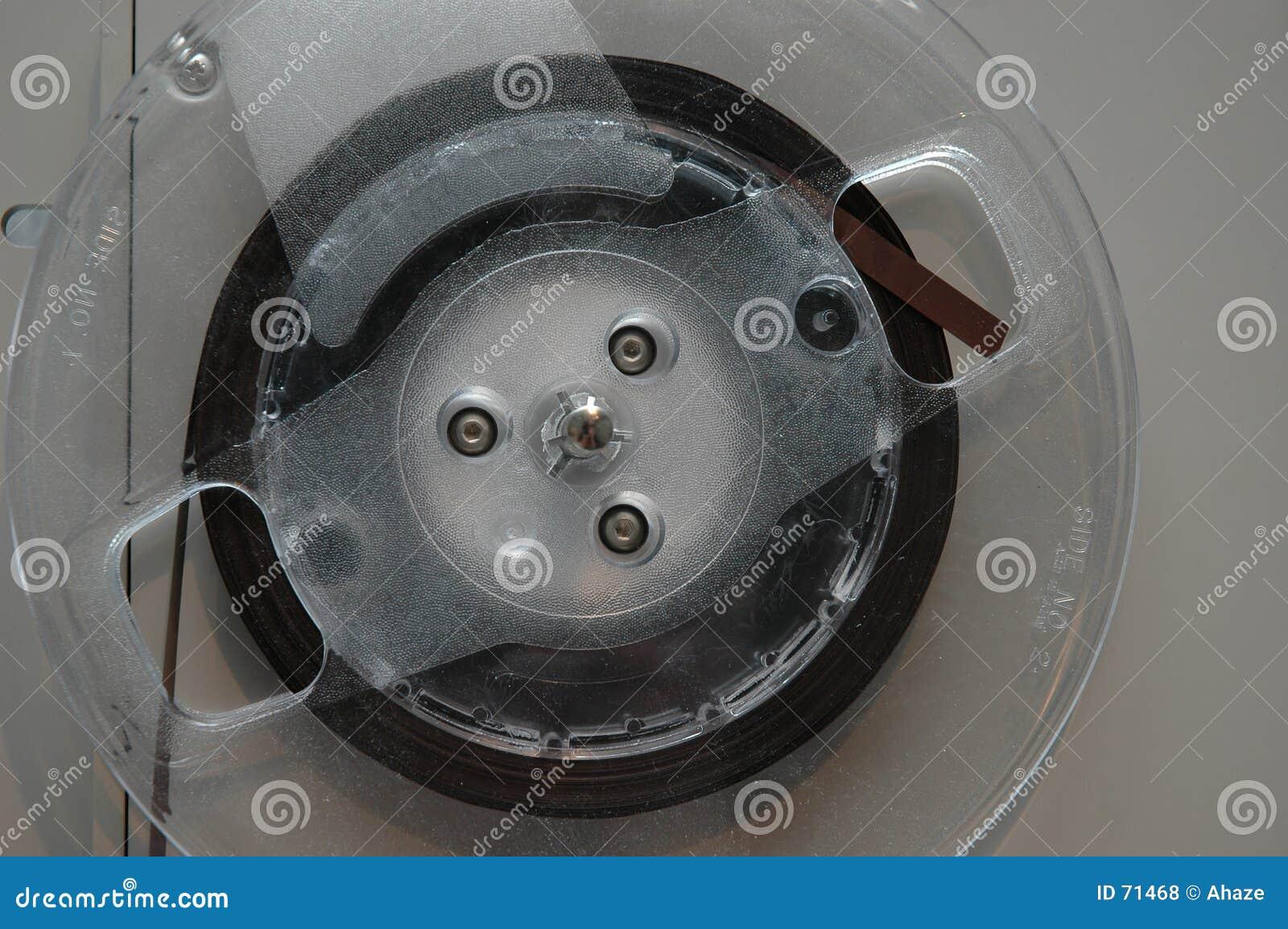 Reel tape closeup