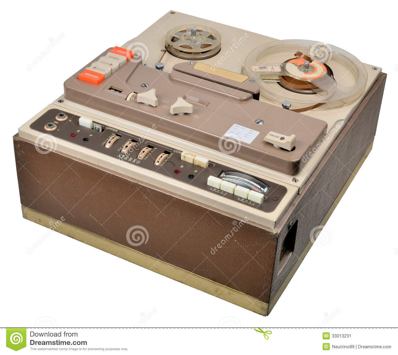 Reel To Reel Tape Recorder Stock Image Image 33013231