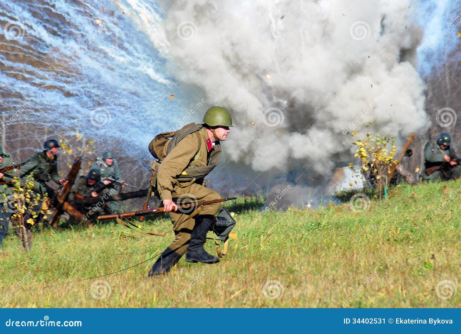 Reenactment сражения Москвы исторический
