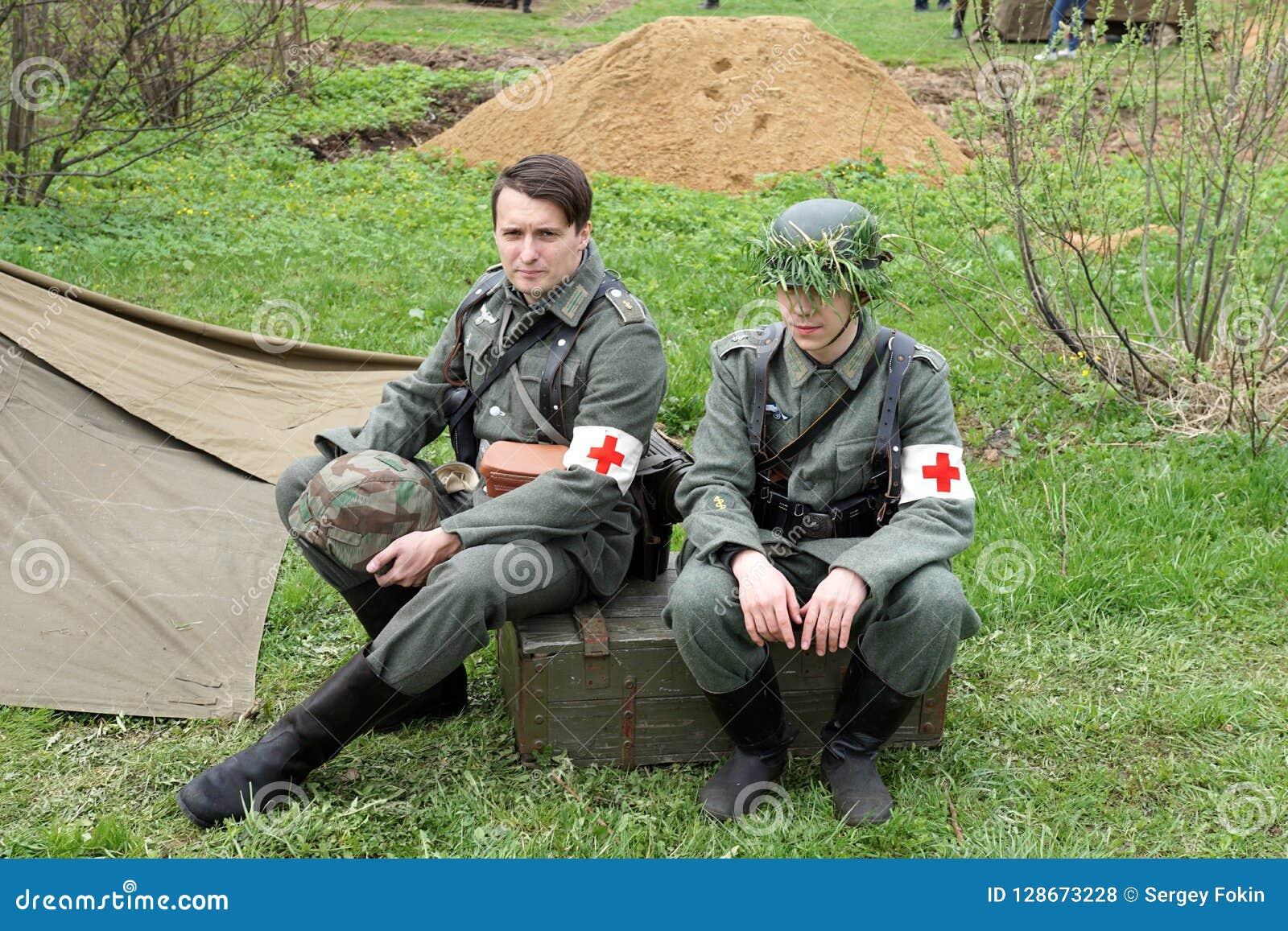 Reenactment av händelser för världskrig II