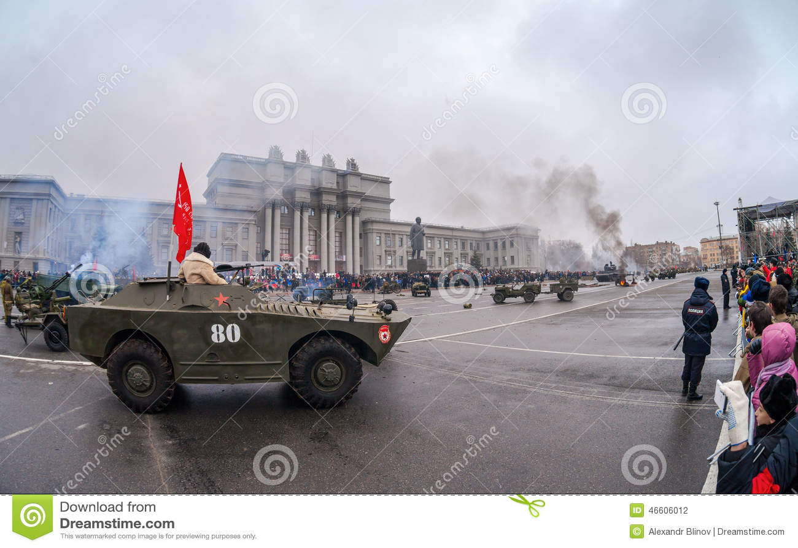 Reenactment av stridneaMoskva i 1941