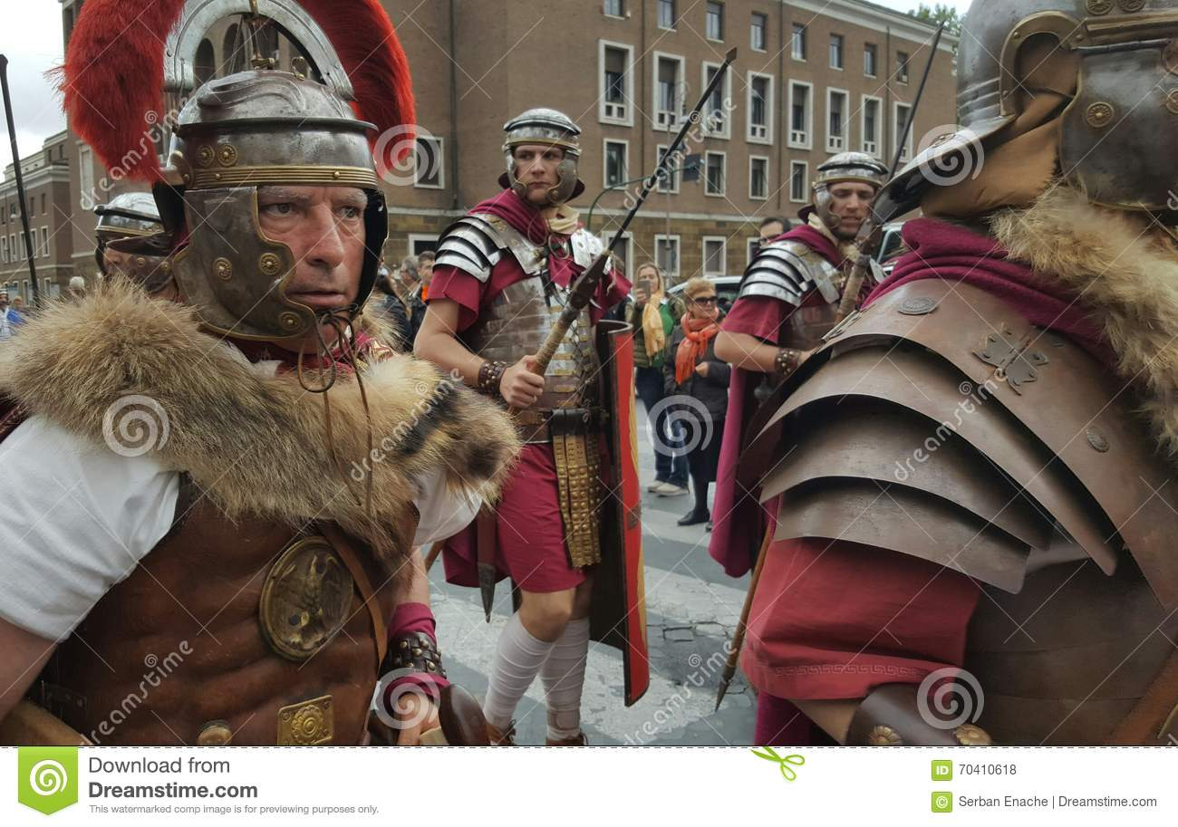 Reenactment Of Roman Legions Rome Italy Editorial Stock