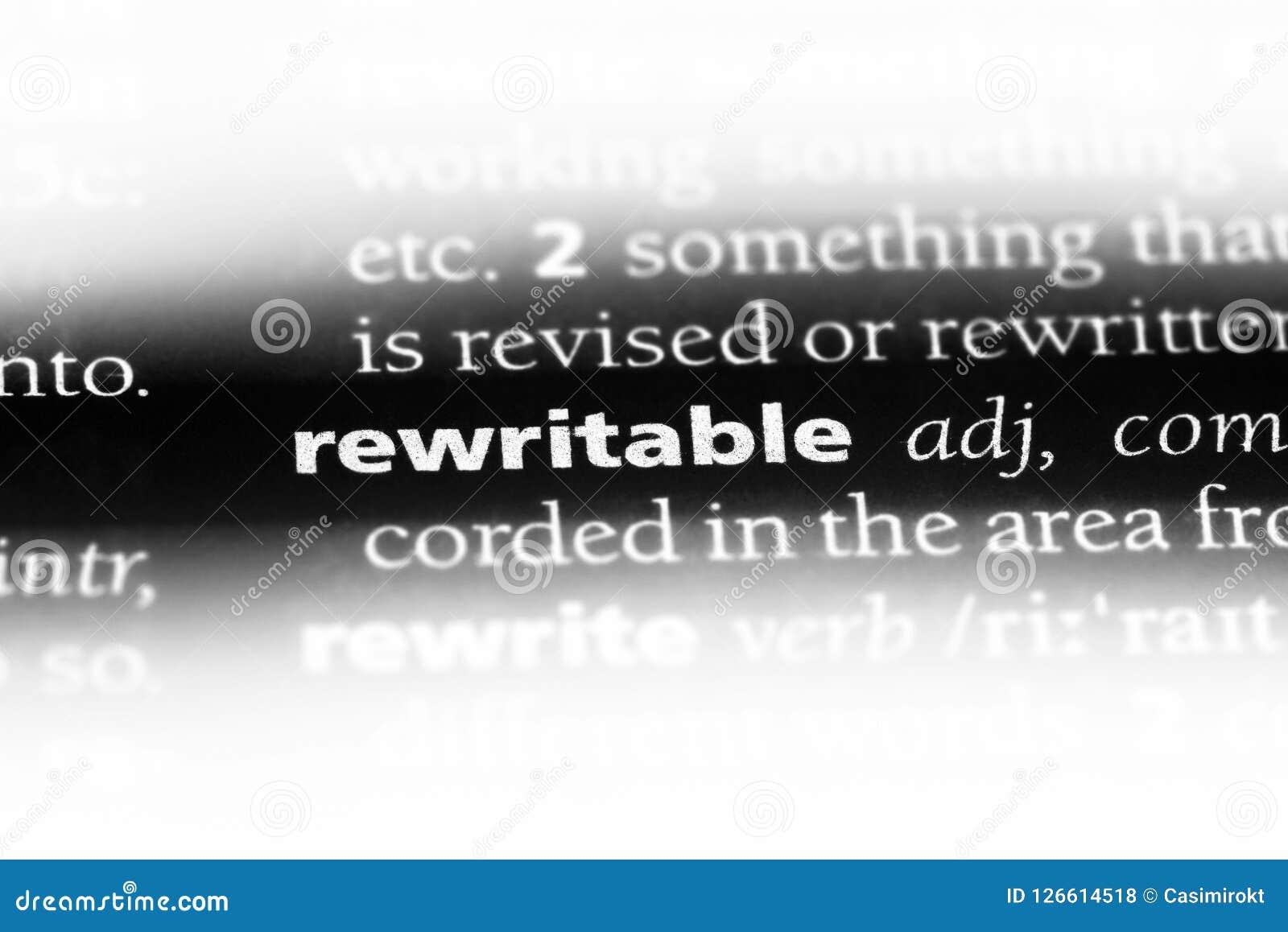 Reescribible