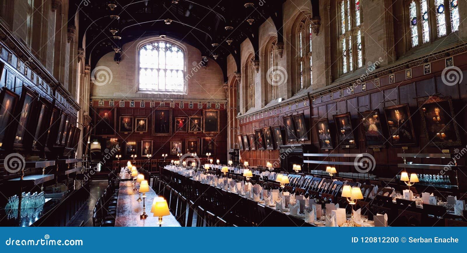 Refectorio, universidad de la iglesia de Cristo, Oxford, Inglaterra